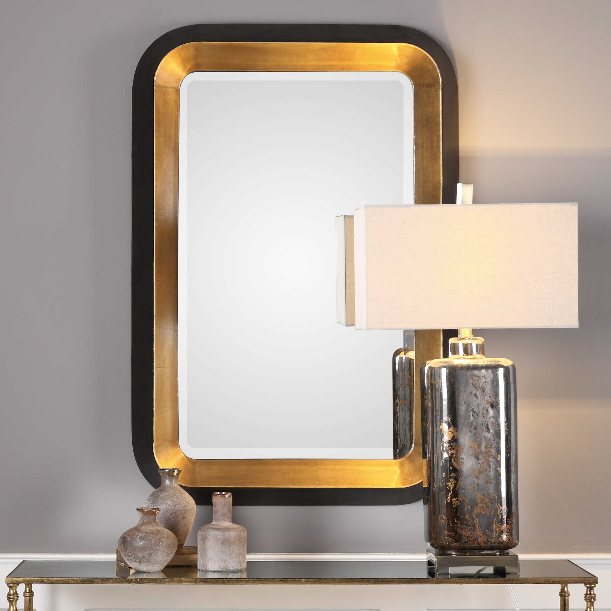 Well Known Uttermost Niva Metallic Gold Wall Mirror With Uttermost Wall Mirrors (View 19 of 20)