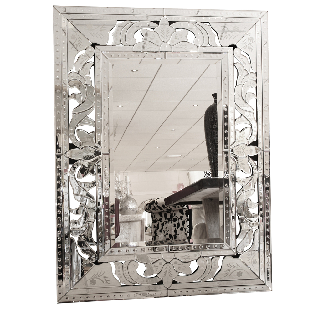 Well Known Venetian Bold Hand Etched Wall Mirror (View 6 of 20)