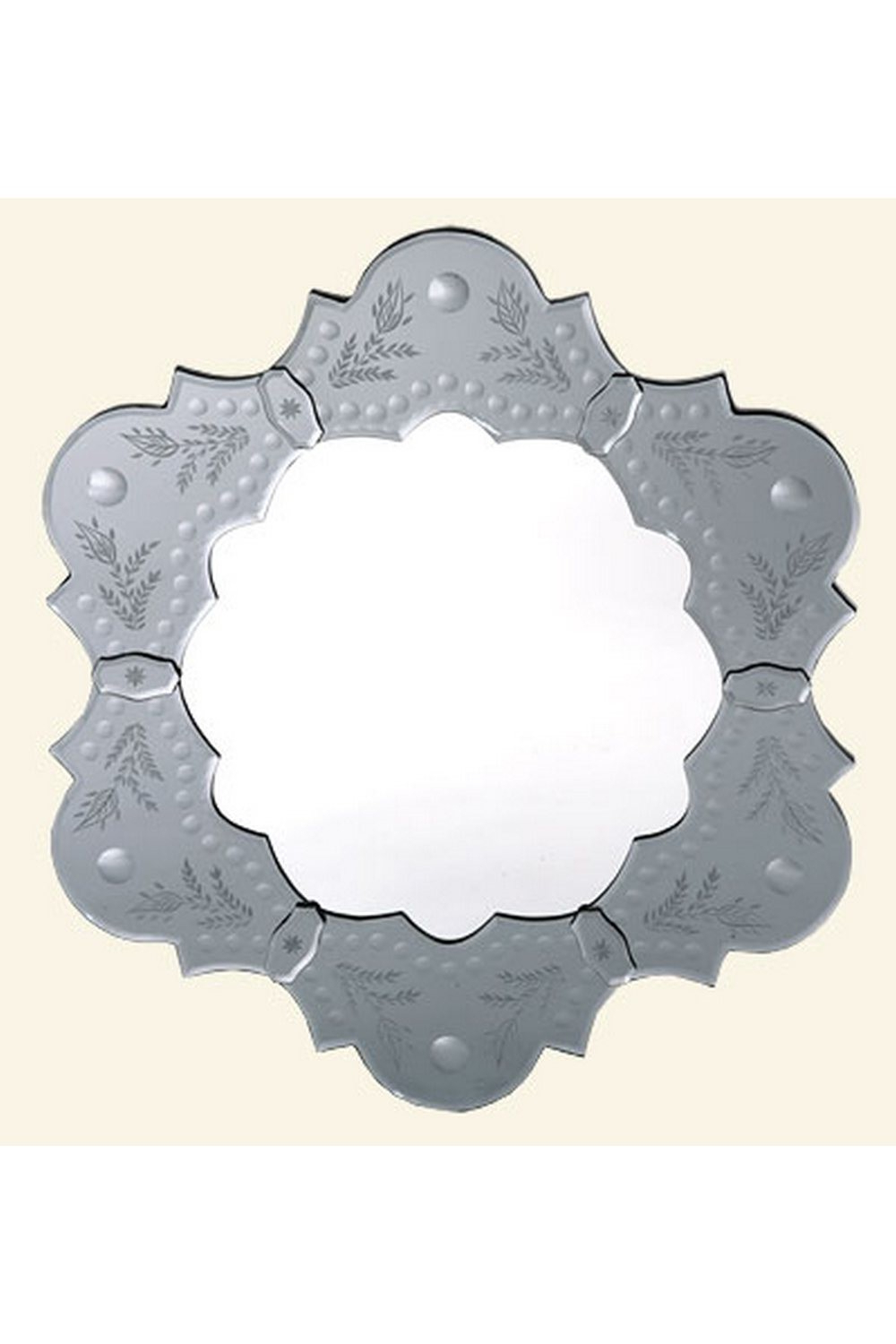 Well Known Vintage Venetian Etched Antique Silver Grey Petal Decorative Wall In Decorative Etched Wall Mirrors (View 20 of 20)