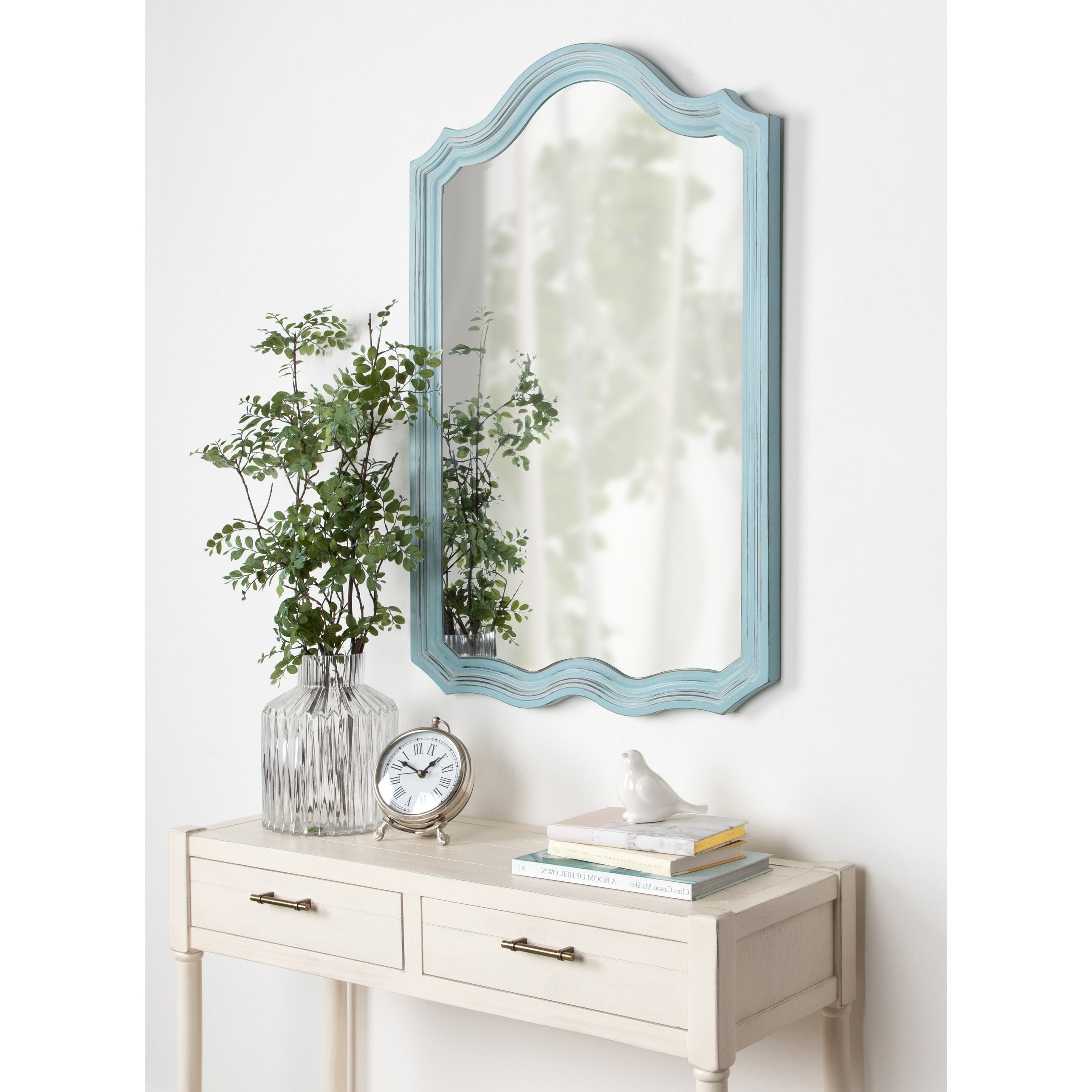 Well Known Vintage Wall Mirrors Within Kate And Laurel Abrianna Decorative Vintage Wall Mirror – Blue – 24x (View 9 of 20)