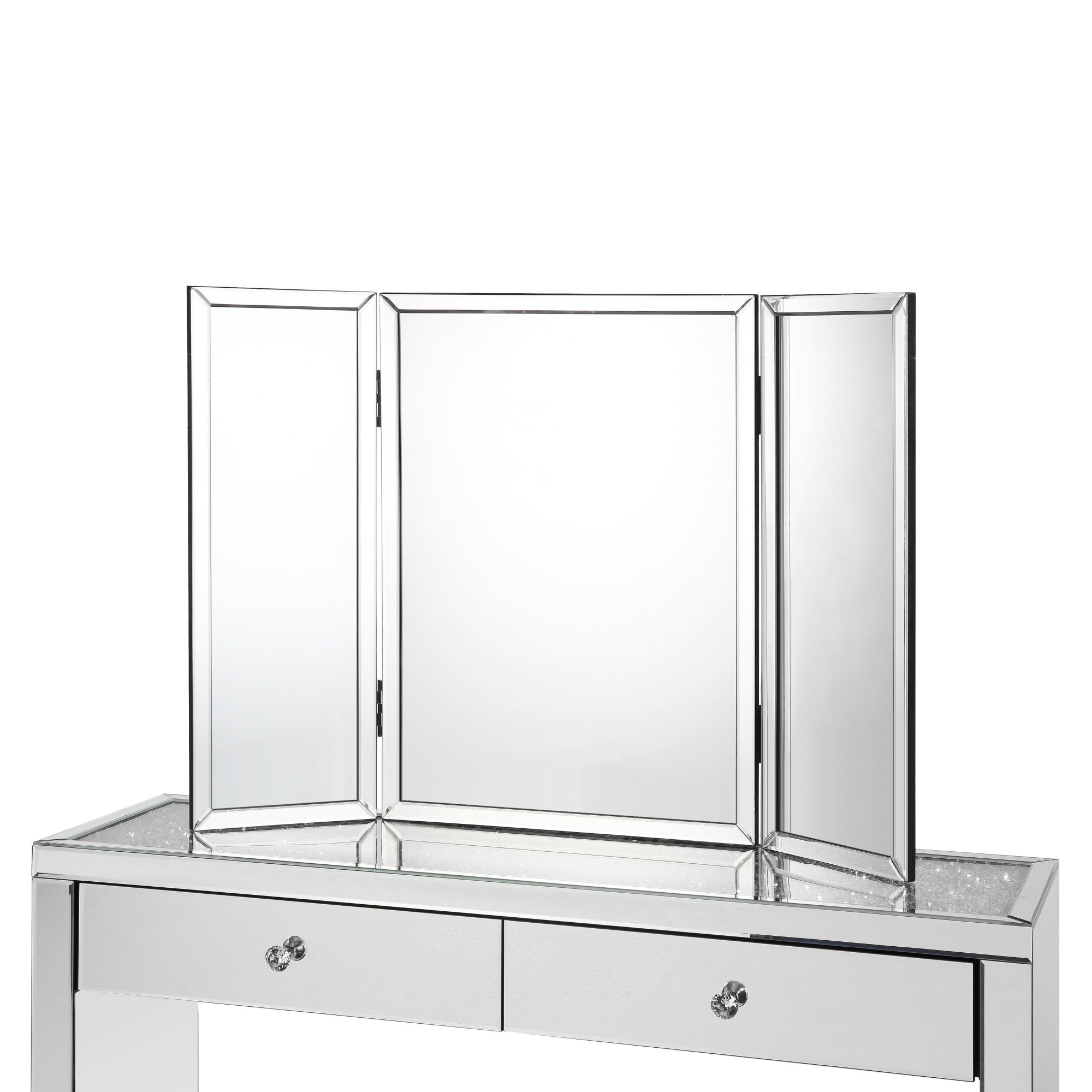 Well Known Wallace Tabletop Vanity Mirror – Tri Fold (View 10 of 20)