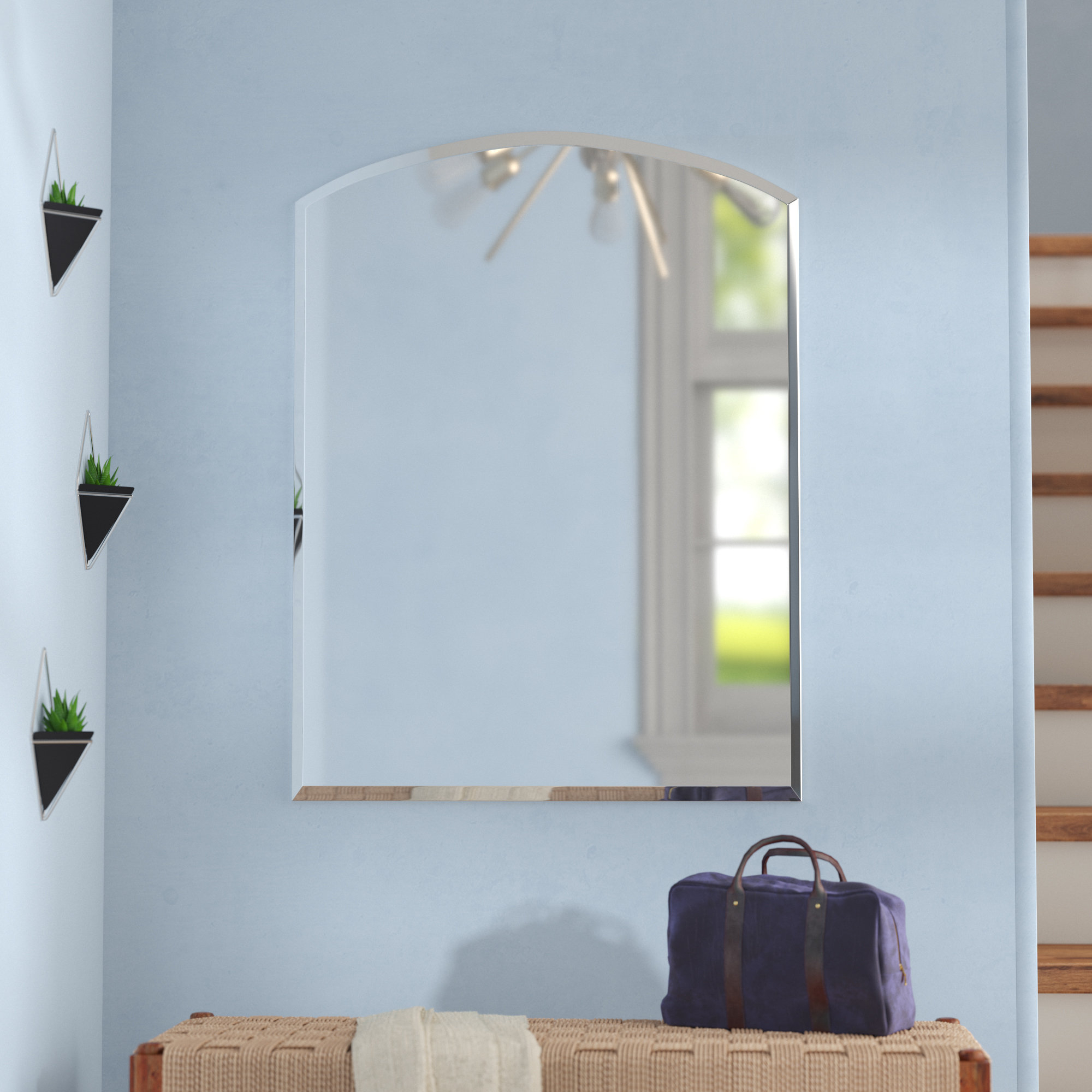 Well Known Wallingford Large Frameless Wall Mirrors Intended For Hanham Modern Wall Mirror (View 19 of 20)