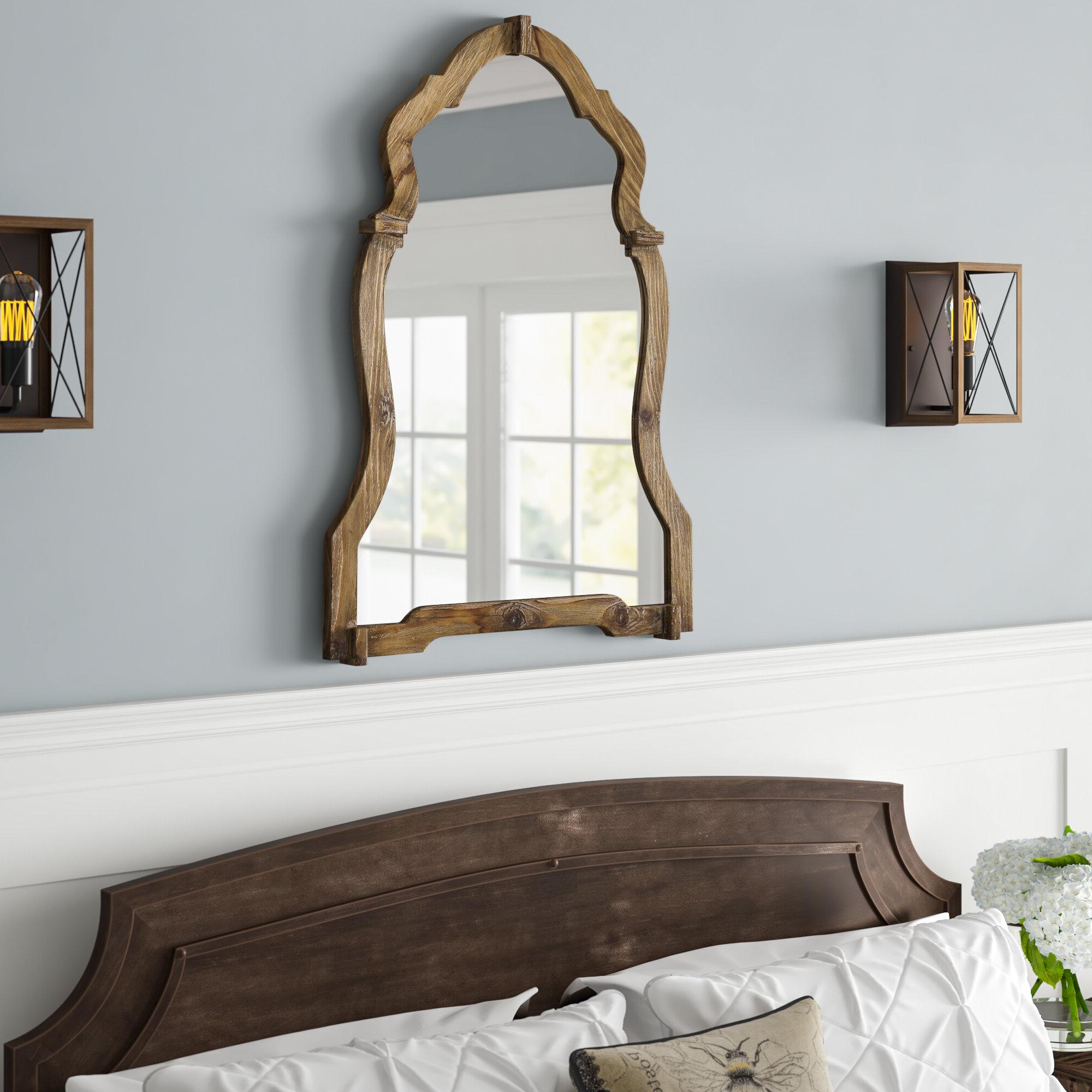 Well Known Walnut Wood Wall Mirrors For Walnut Wood Wall Mirror (View 5 of 20)