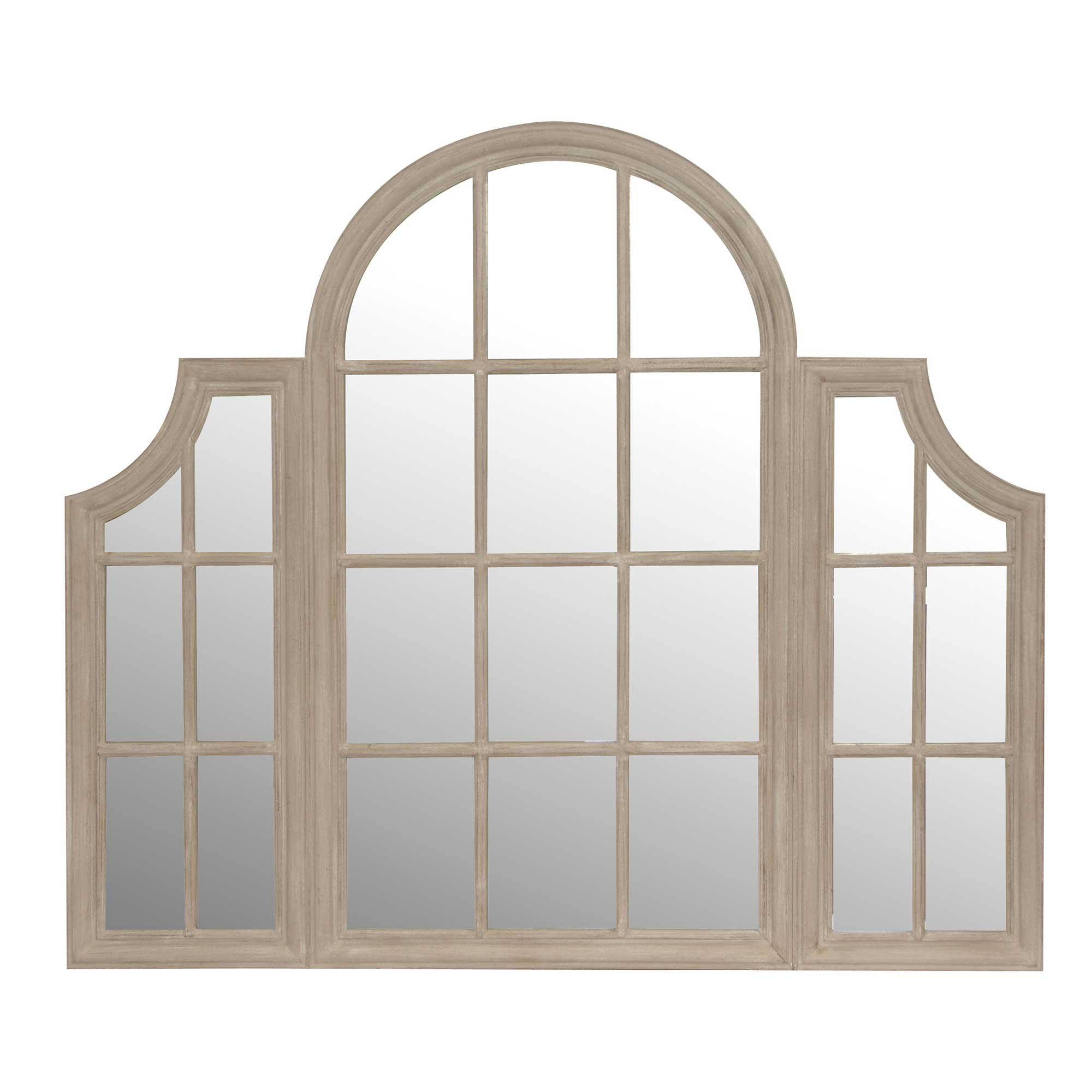 Well Known Window Cream Wood Wall Mirrors Inside Awesome Window Pane Mirrors Style Mirror Decor Decoration Black (View 3 of 20)