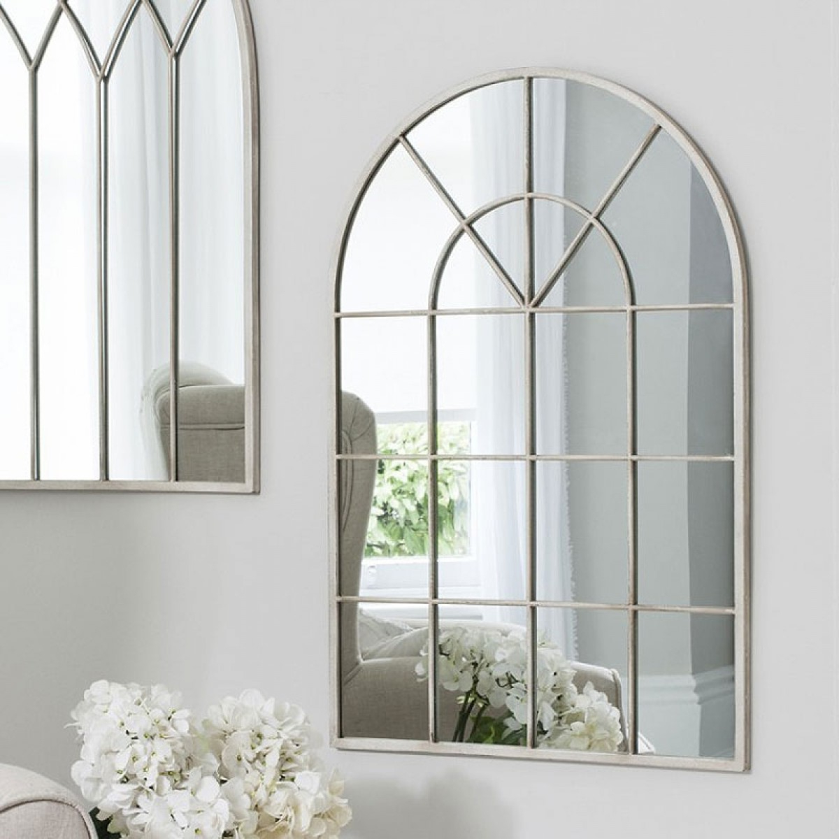 Well Known Window Wall Mirrors For Cream Window Wall Mirror – 60 X 90cm (View 10 of 20)