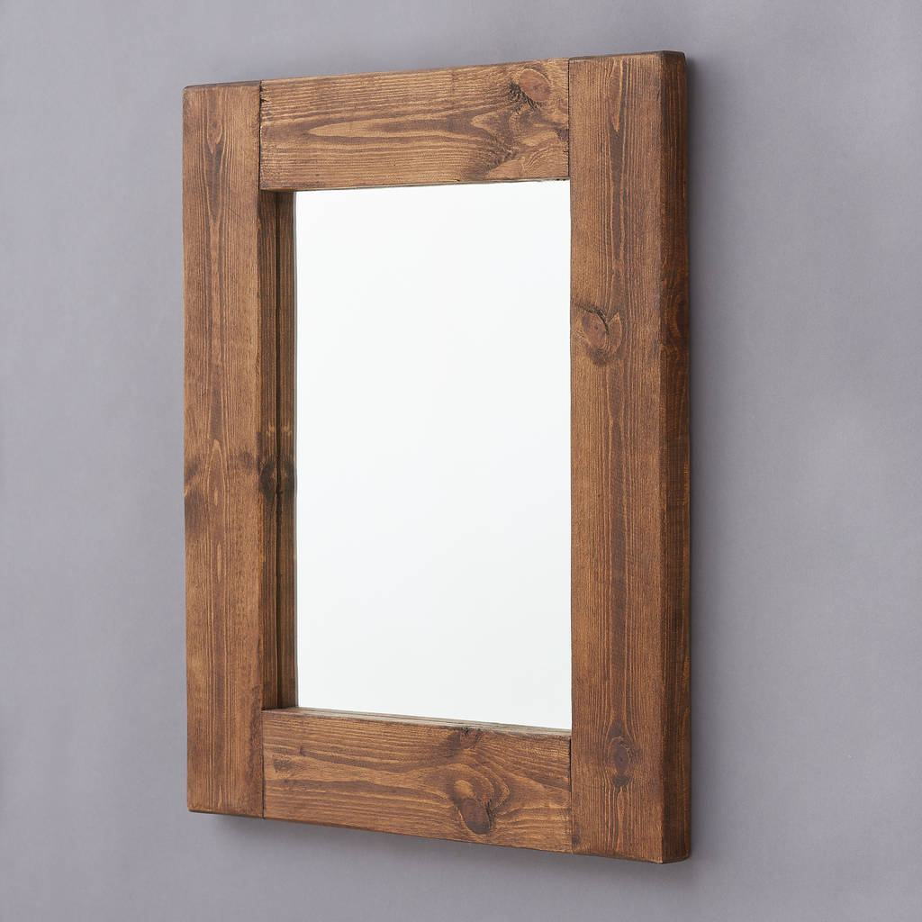 Well Known Wood Framed Wall Mirrors Pertaining To Wood Frame Wall Mirror – Solusi (View 12 of 20)