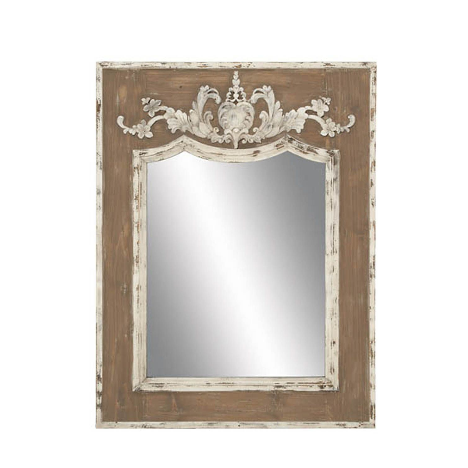 Well Known Wooden Framed Wall Mirrors Inside Wood Frame Wall Mirror (View 20 of 20)
