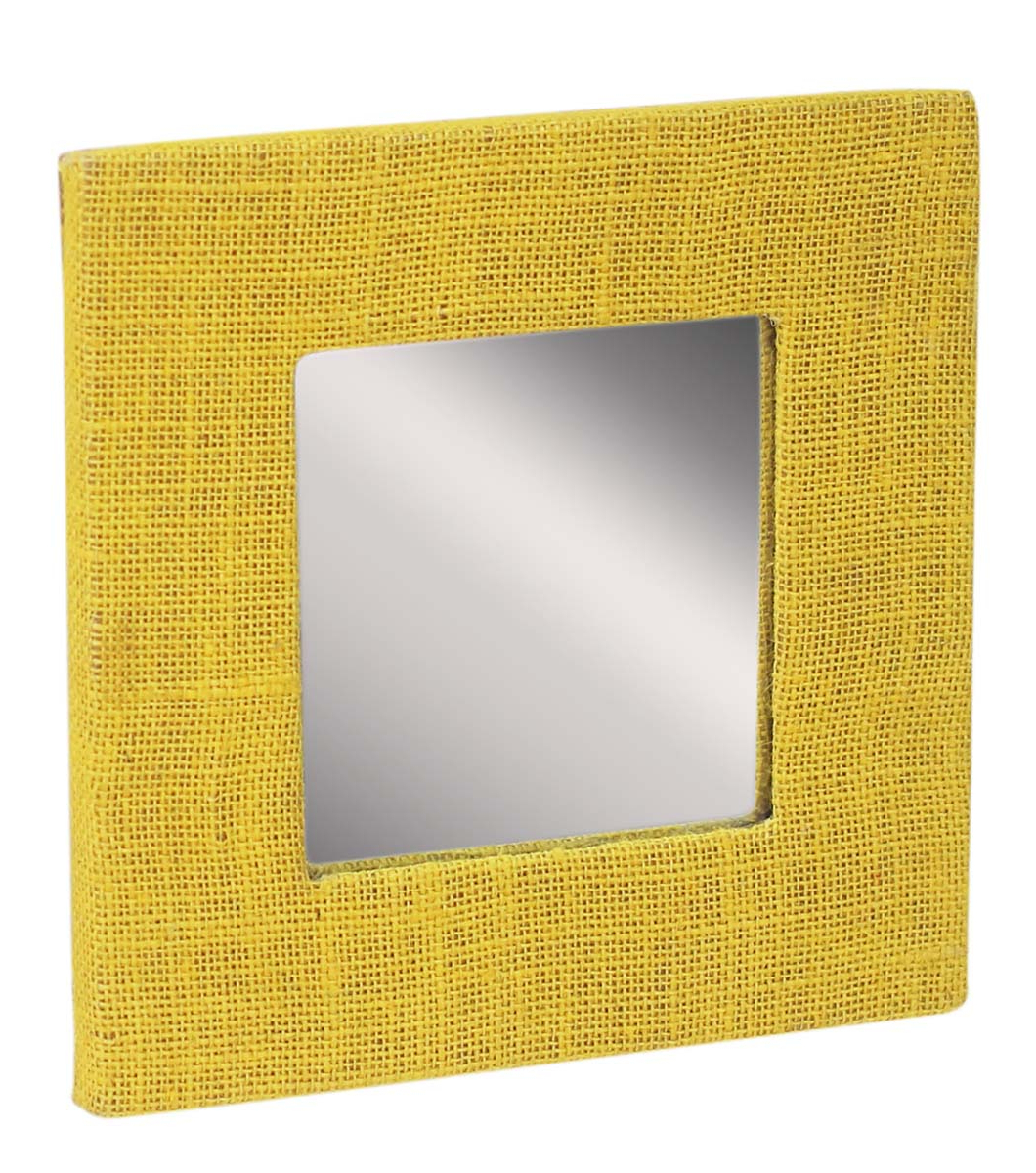 Well Known Yellow Wall Mirrors For Wholesale Square Shaped Wall Mirror In Bulk – Handmade Decorative (View 10 of 20)