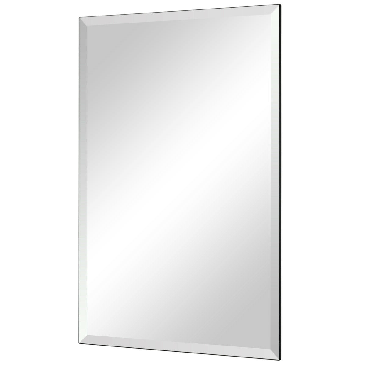 "Well Liked 24"" X 36"" Rectangle Wall Mounted Bathroom Beveled Mirror For 24 X 36 Wall Mirrors (View 20 of 20)"