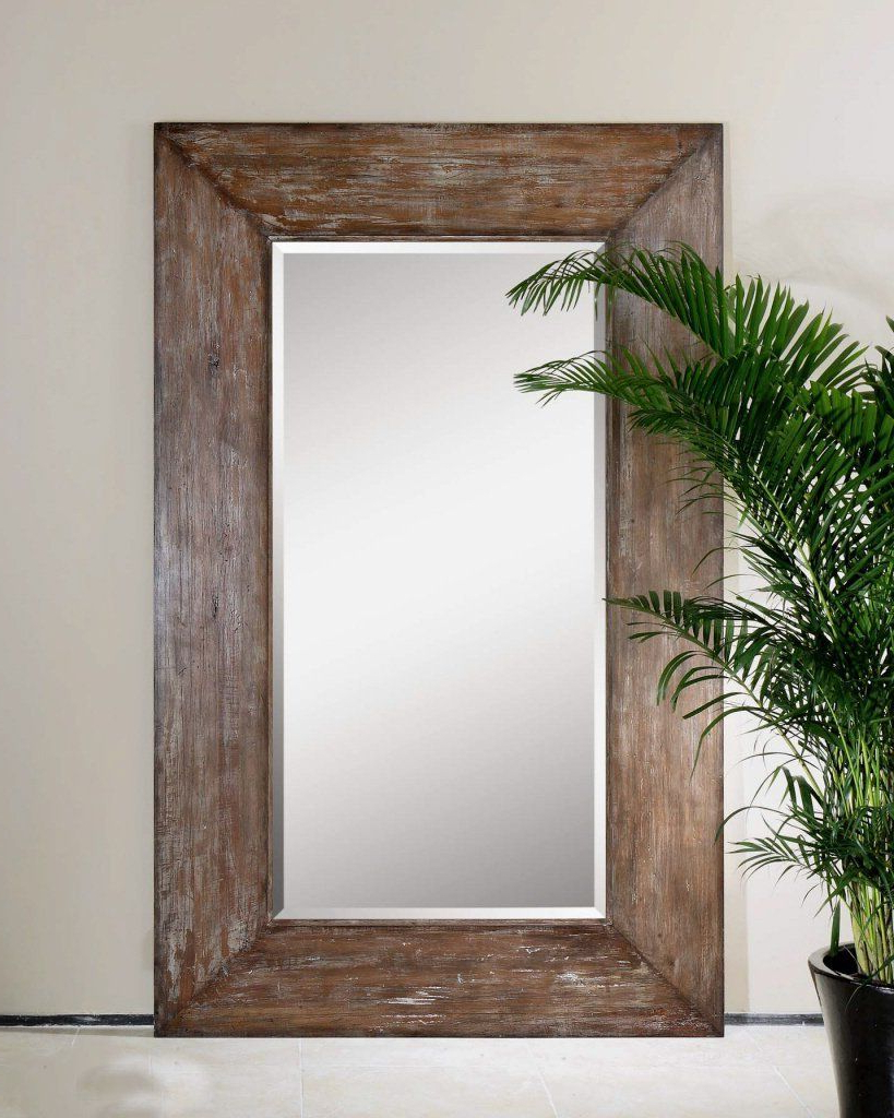 Well Liked Amazon – Extra Large Wall Mirror Oversize Rustic Wood Xl Luxe With Large Leaning Wall Mirrors (View 18 of 20)