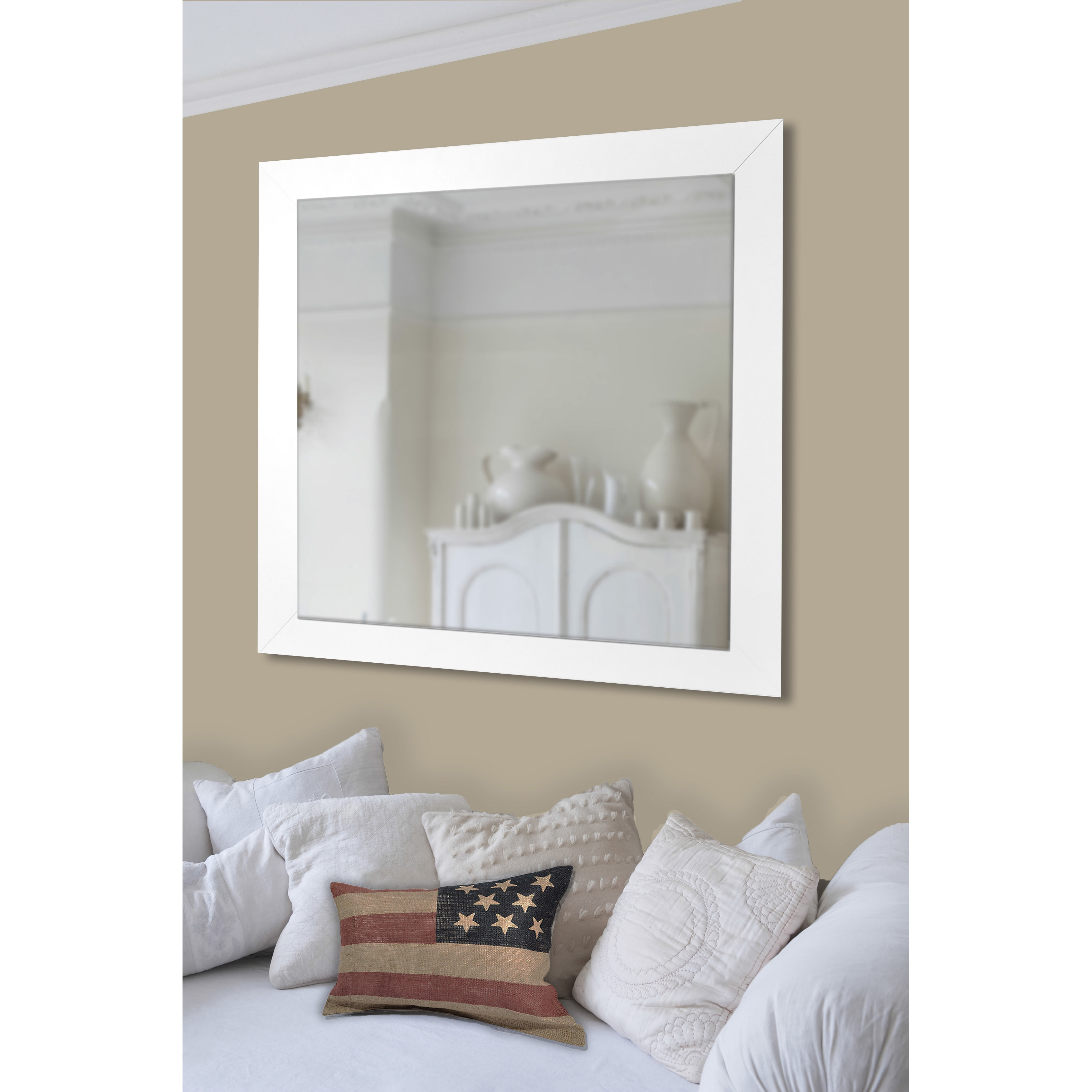 Well Liked American Made Accent Wall Mirrors Inside Rayne Mirrors American Made Rayne White Satin Wide Wall/ Vanity Mirror (View 20 of 20)