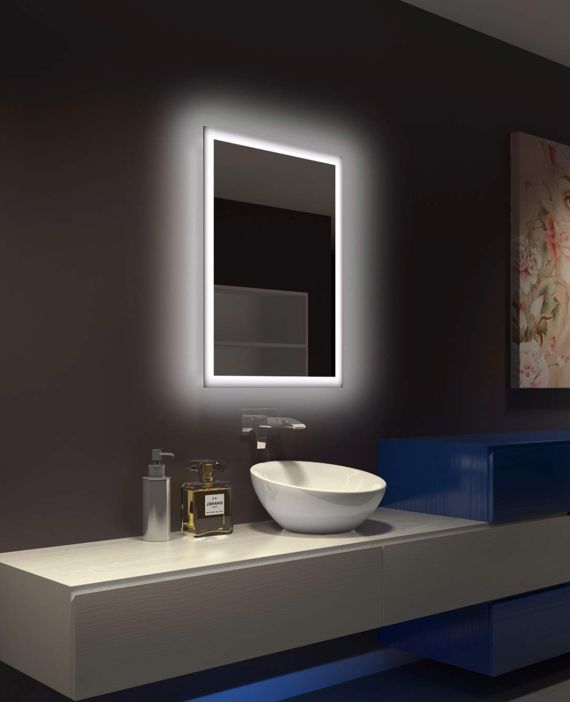 Well Liked Backlit Bathroom Wall Mirrors With Regard To Backlit Bathroom Mirror Rectangle 24 X 32 Inparis Mirror (View 19 of 20)