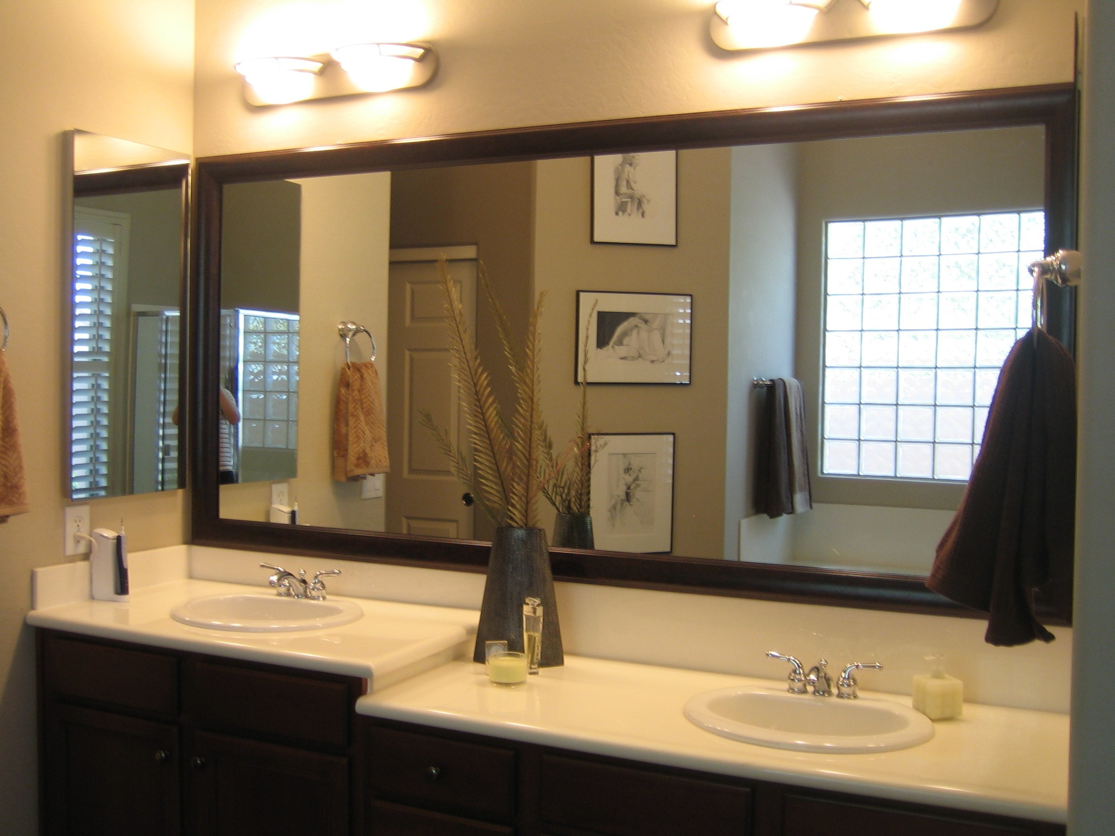 Well Liked Bathroom Bathrooms Design Mirror Frames Frameless Wall White In Frames For Bathroom Wall Mirrors (View 18 of 20)