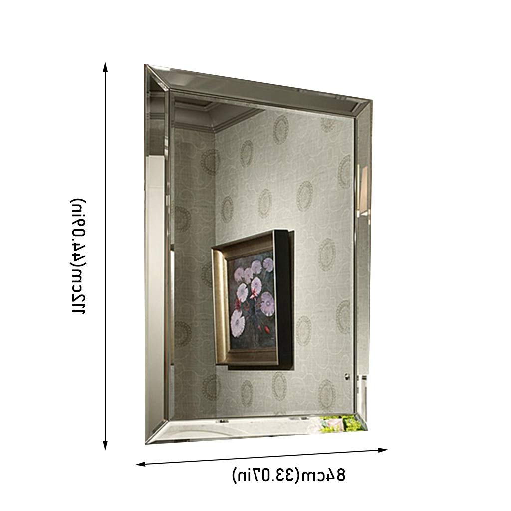 Well Liked Big Wall Mirror Decors For Amazon: Beauty Mirror Wall Mirror Decor Rectangle, Irregular (View 8 of 20)