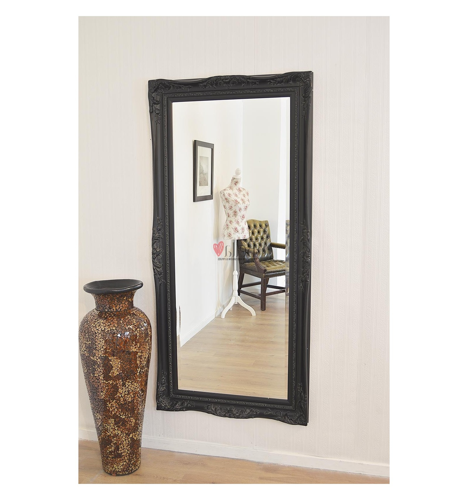 Well Liked Black Antique Full Length Mirror – Large Pertaining To Antique Full Length Wall Mirrors (View 16 of 20)