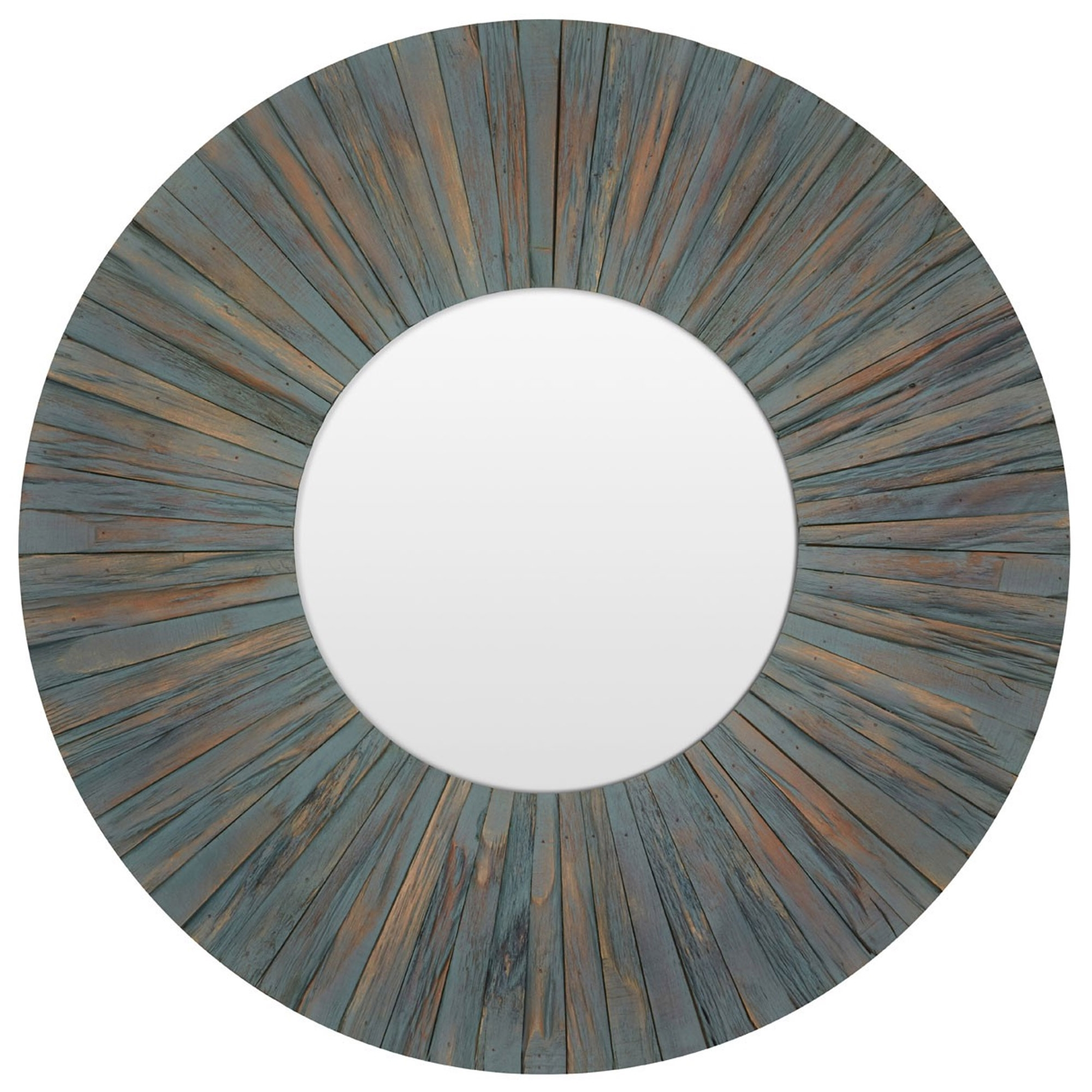 Well Liked Blue Driftwood Wall Mirror For Blue Wall Mirrors (View 9 of 20)