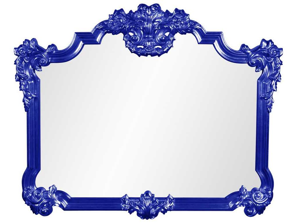 Well Liked Blue Wall Mirrors Regarding Howard Elliott Avondale 39'' W X 48'' H Royal Blue Wall Mirror (View 16 of 20)
