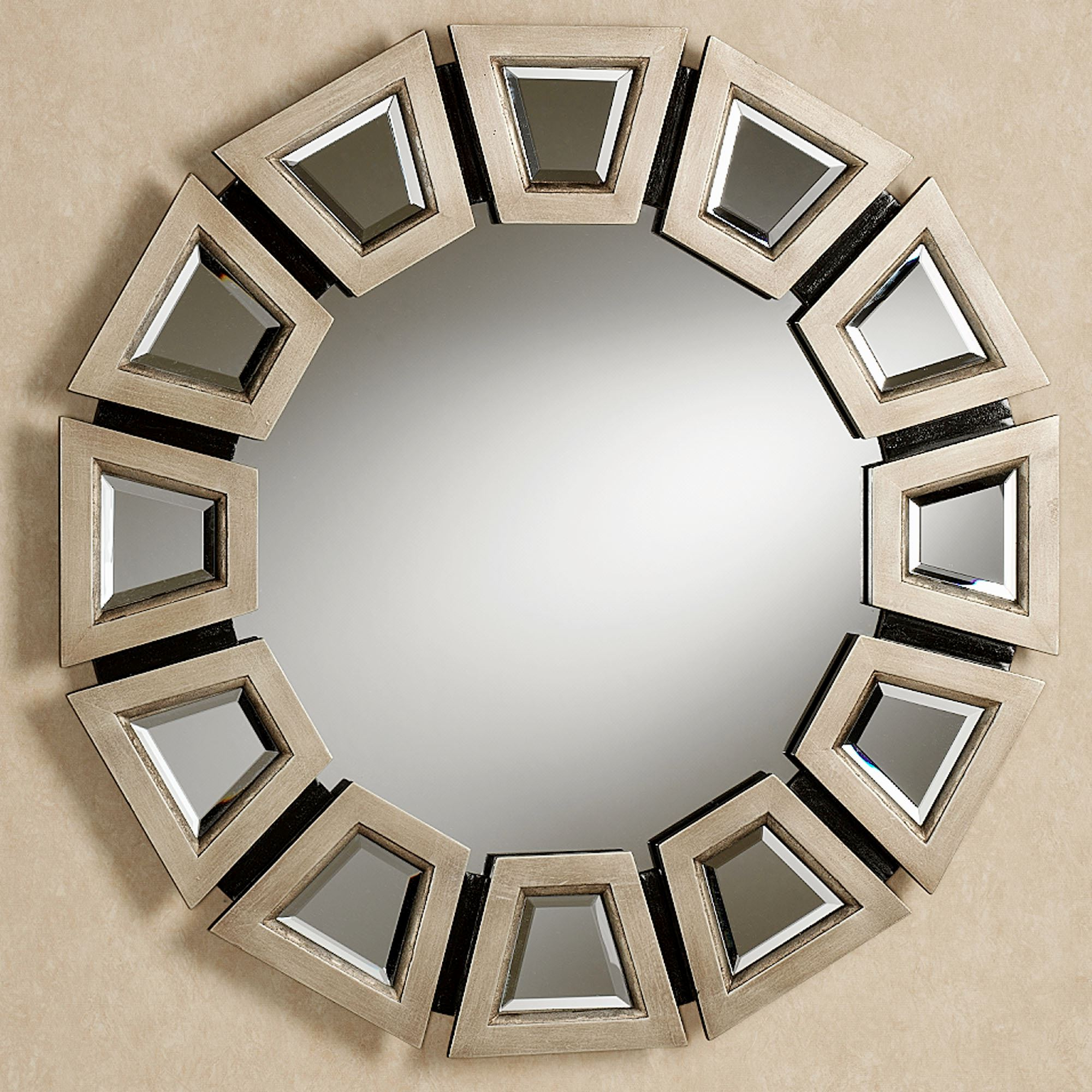 Well Liked Champagne Wall Mirrors Regarding Abstract Twilight Round Wall Mirror (View 3 of 20)