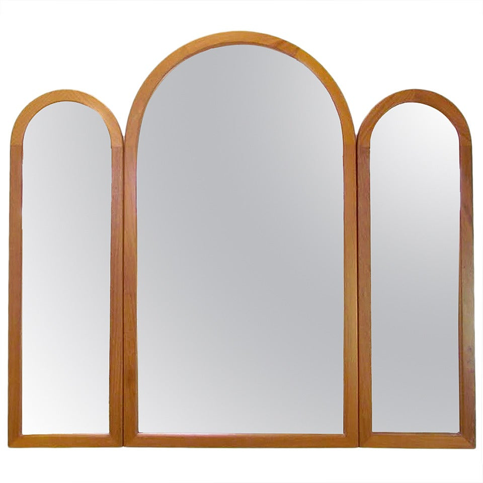 Well Liked Danish Teak Adjustable Tri Fold Wall Mirrorpedersen & Hansen Intended For Tri Fold Wall Mirrors (View 18 of 20)