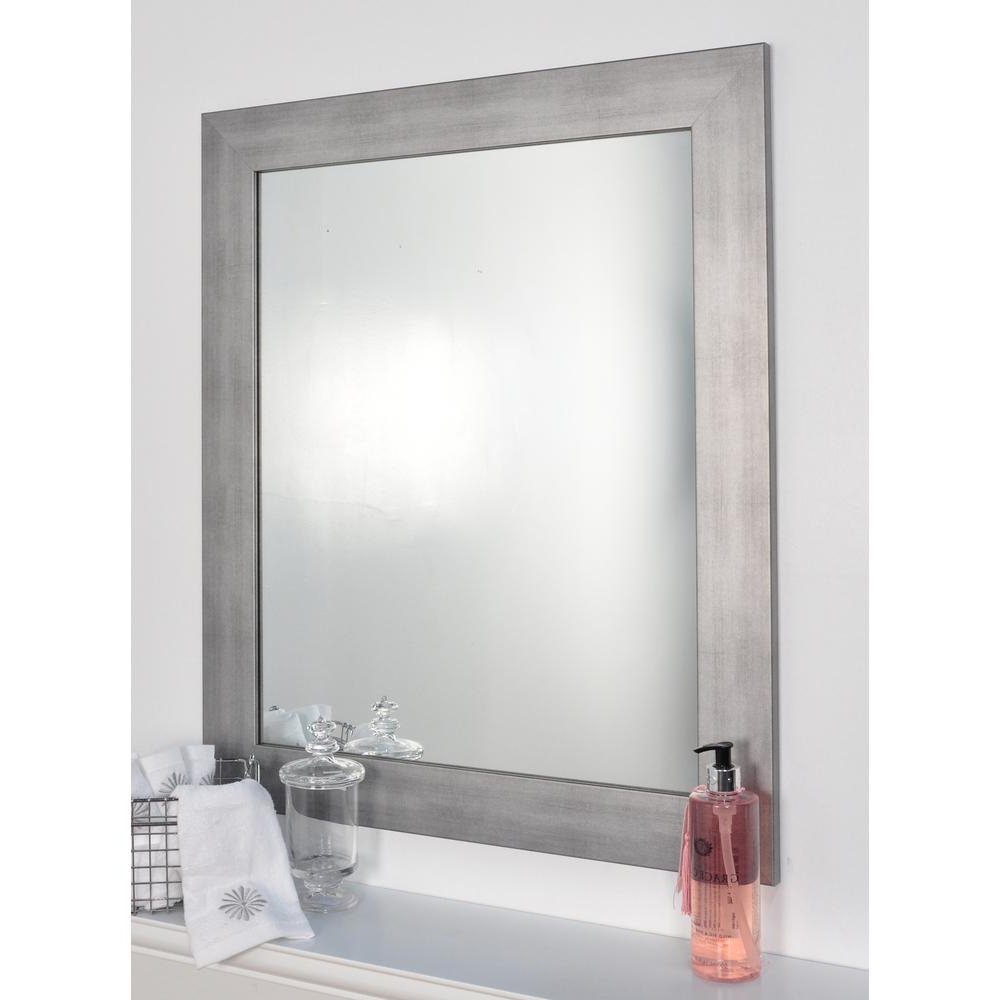 Well Liked Decorative Framed Wall Mirrors In Brandtworks Cool Muted Silver Decorative Framed Wall Mirror (View 19 of 20)