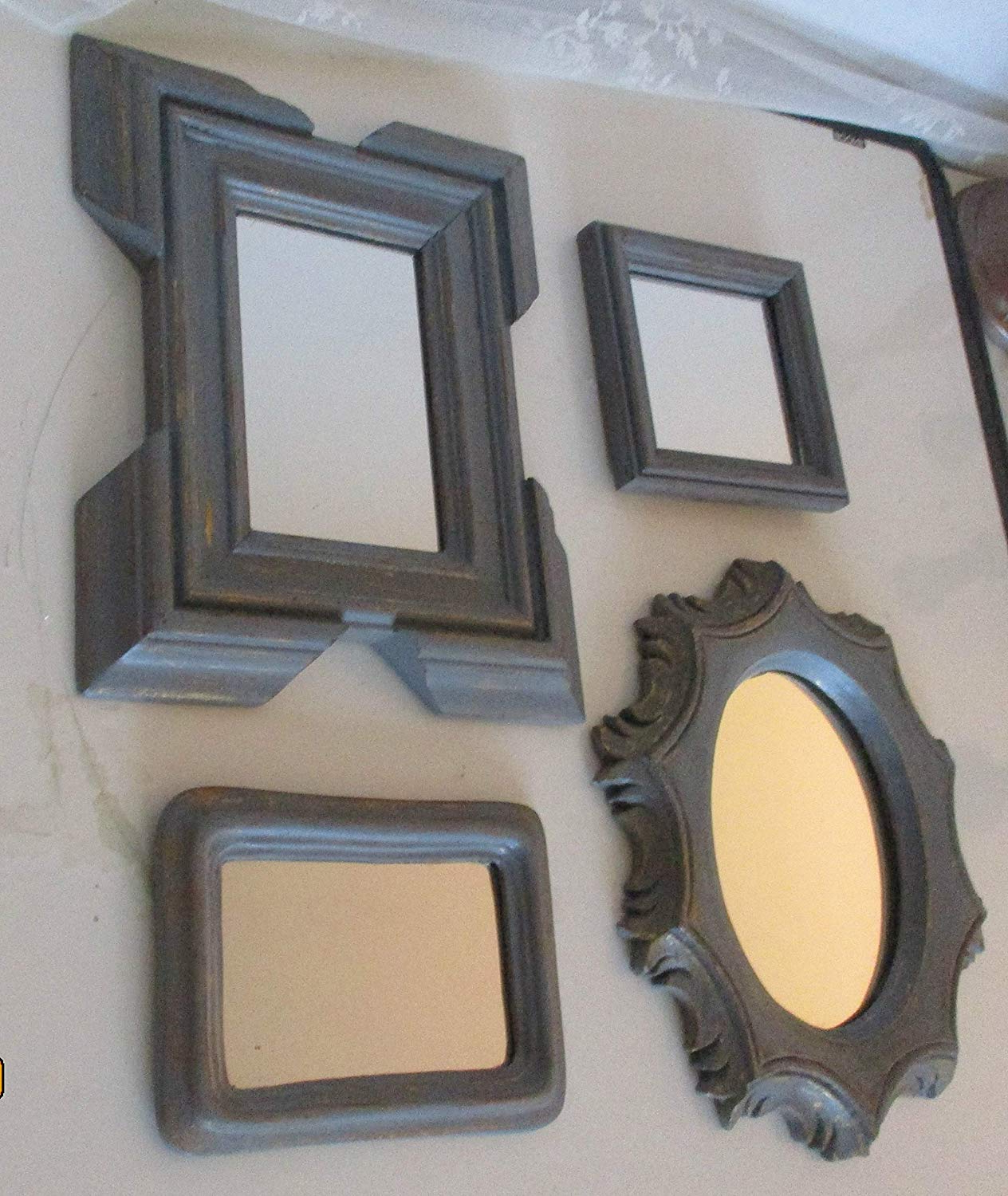 Well Liked Decorative Wall Mirror Sets With Amazon: Wall Mirrors, Grey Mirrors, Gray Mirrors, Decorative (Gallery 18 of 20)