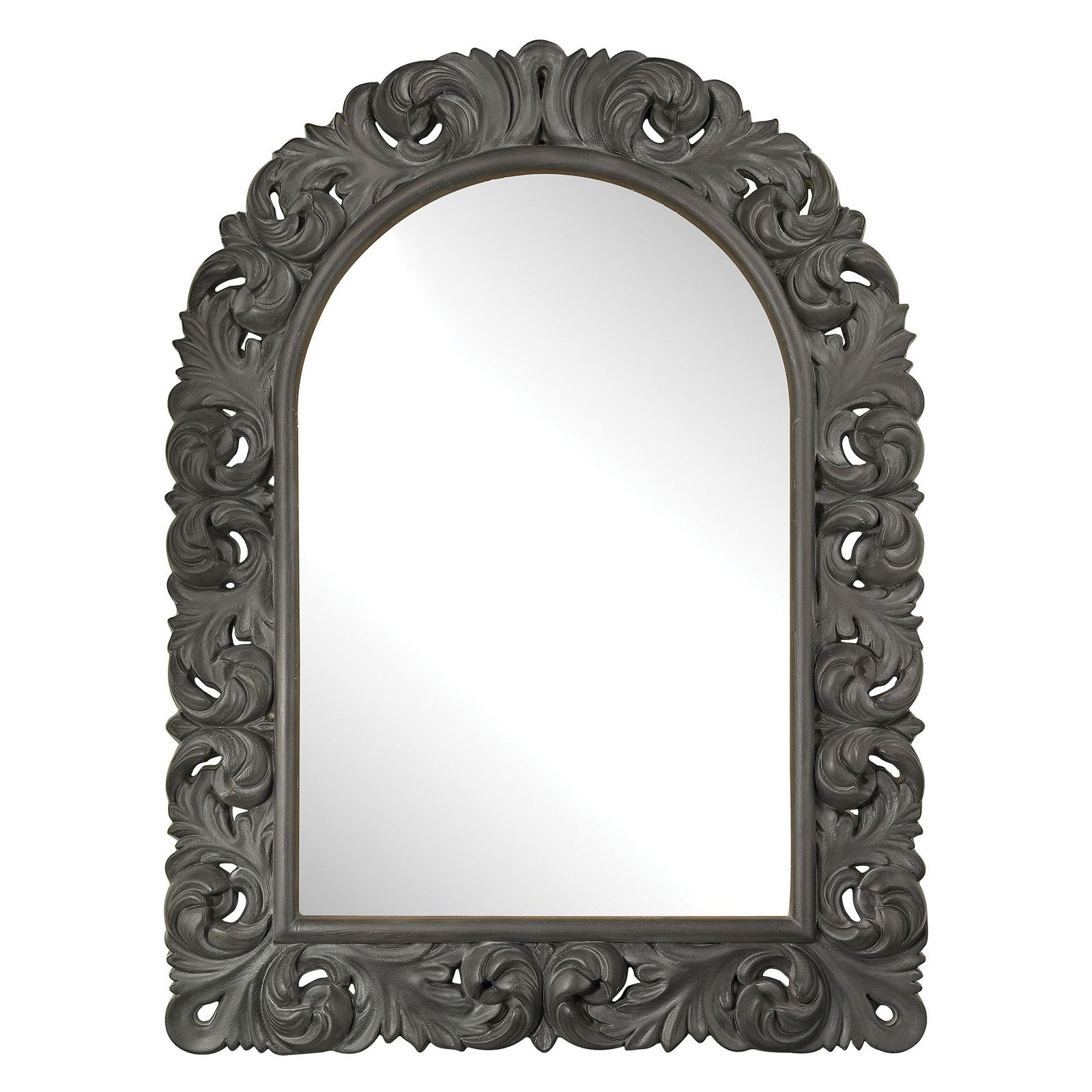 Well Liked Eriq Framed Wall Mirrors Within Sterling Arched Scroll Wall Mirror – 34.6w X 47.2h In (View 19 of 20)