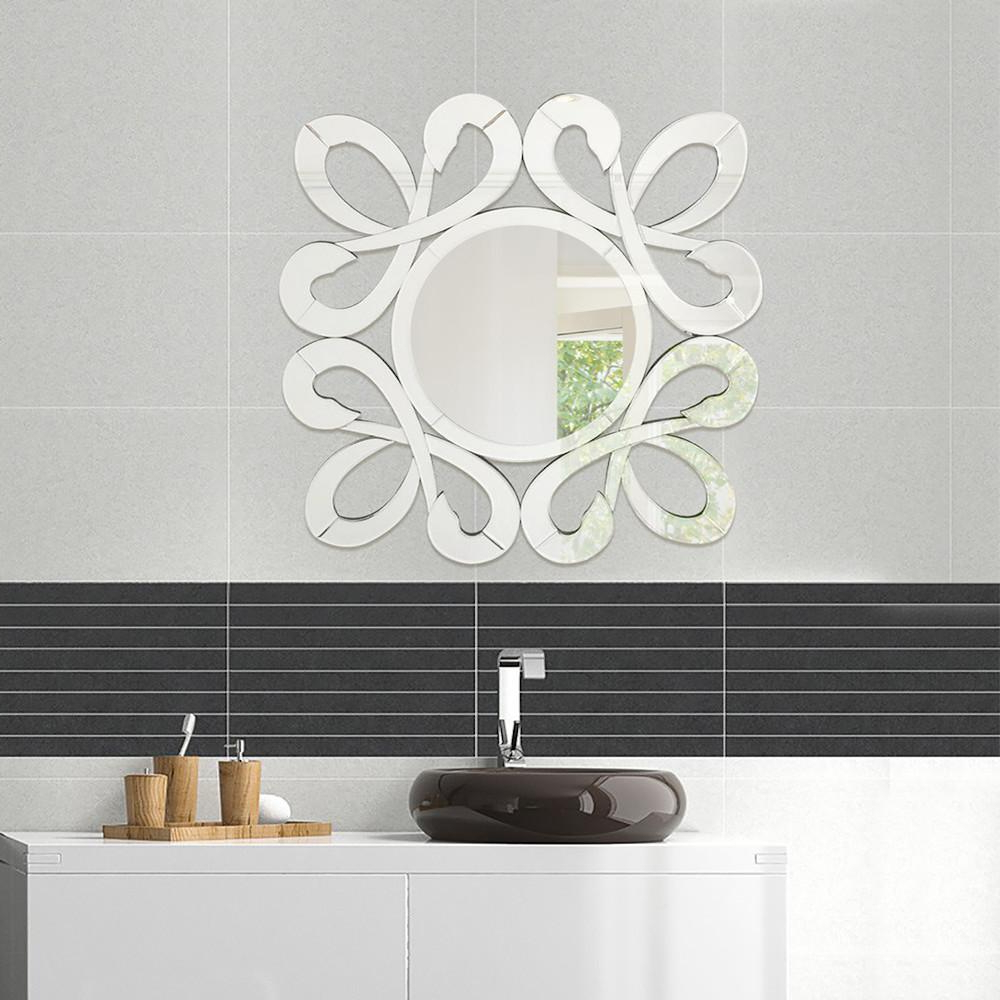 Well Liked Fab Glass And Mirror 31.5 In. X 31.5 In. Fiori Stylish Frame Inside Stylish Wall Mirrors (Gallery 17 of 20)