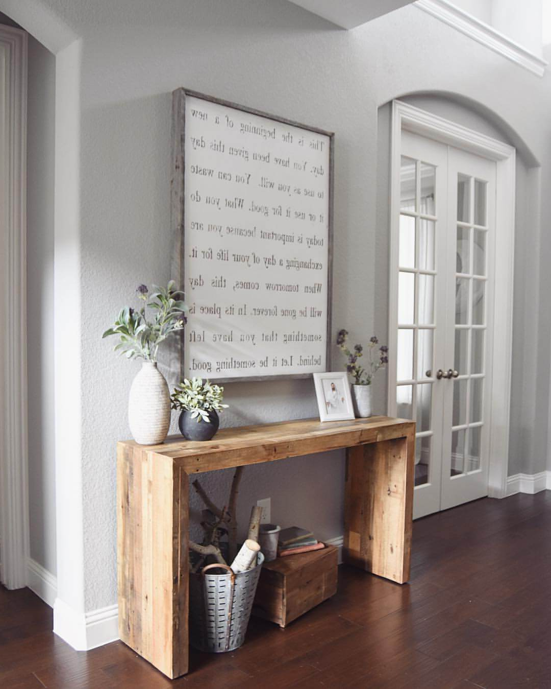 Well Liked Faux Window Wood Wall Mirrors In 45+ Best Farmhouse Wall Decor Ideas And Designs For  (View 18 of 20)