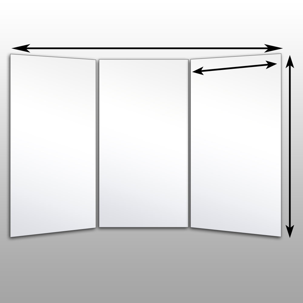 Well Liked Folding Wall Mirrors Regarding Folding Glassless Mirrors – Free Standing Glassless Mirrors (View 19 of 20)