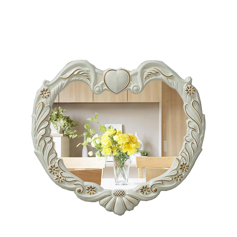 Well Liked Heart Shaped Wall Mirrors Intended For Mirror Heart Shaped Living Room Bathroom Wall Mirror Waterproof (View 8 of 20)