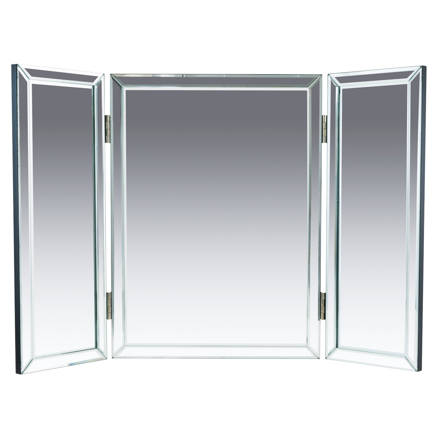 """Well Liked Houseables Trifold Vanity Mirror, 3 Way, 31"""" X 1"""" X 21"""", Single, Tri Fold,  Big Mirrors For Tables, Bedrooms, Intended For Tri Fold Bathroom Wall Mirrors (View 20 of 20)"""