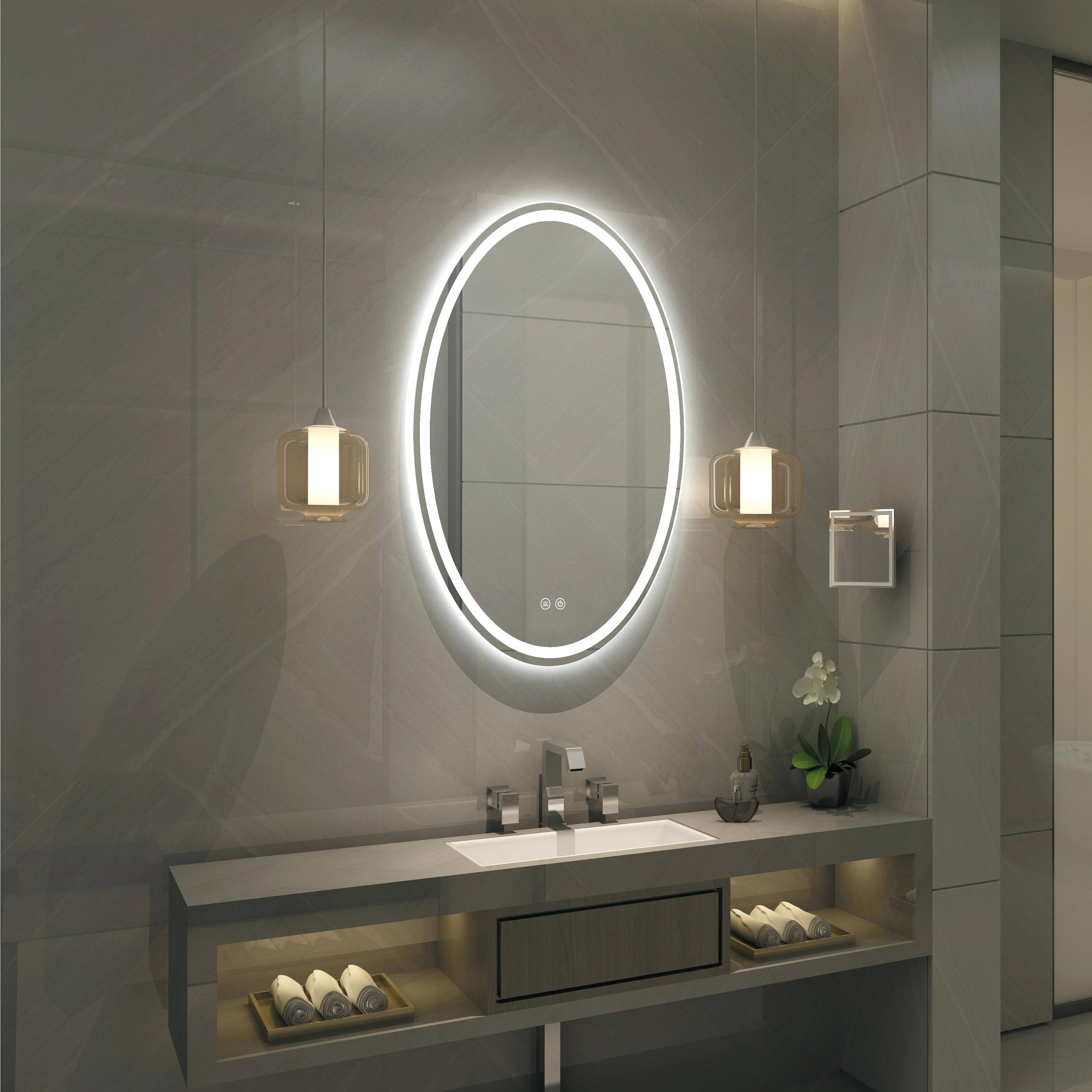 Well Liked Illuminated Wall Mirrors For Bathroom Throughout Illuminated Wall Mirrors For Bathroom – Jennaneumann.co (Gallery 17 of 20)