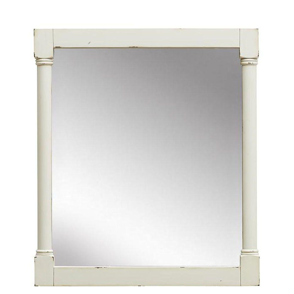 Well Liked Ivory Wall Mirrors Pertaining To Home Decorators Collection Fallston 32 In. L X 27 In (View 20 of 20)