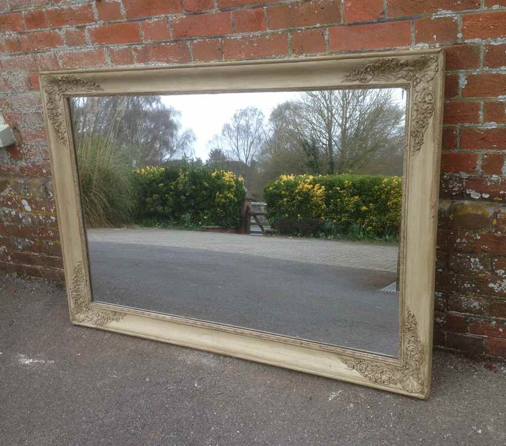 Well Liked Landscape Wall Mirrors Intended For Early Antique Painted French Original Louis Philippe Wall Mirror (View 2 of 20)