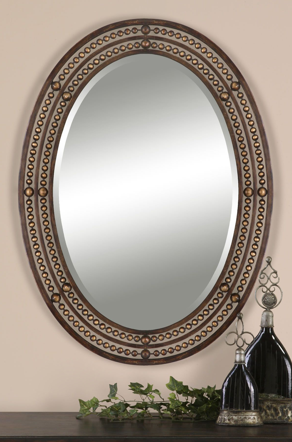 Well Liked Leeper Oval Wall Mirror Inside Burnes Oval Traditional Wall Mirrors (View 4 of 20)