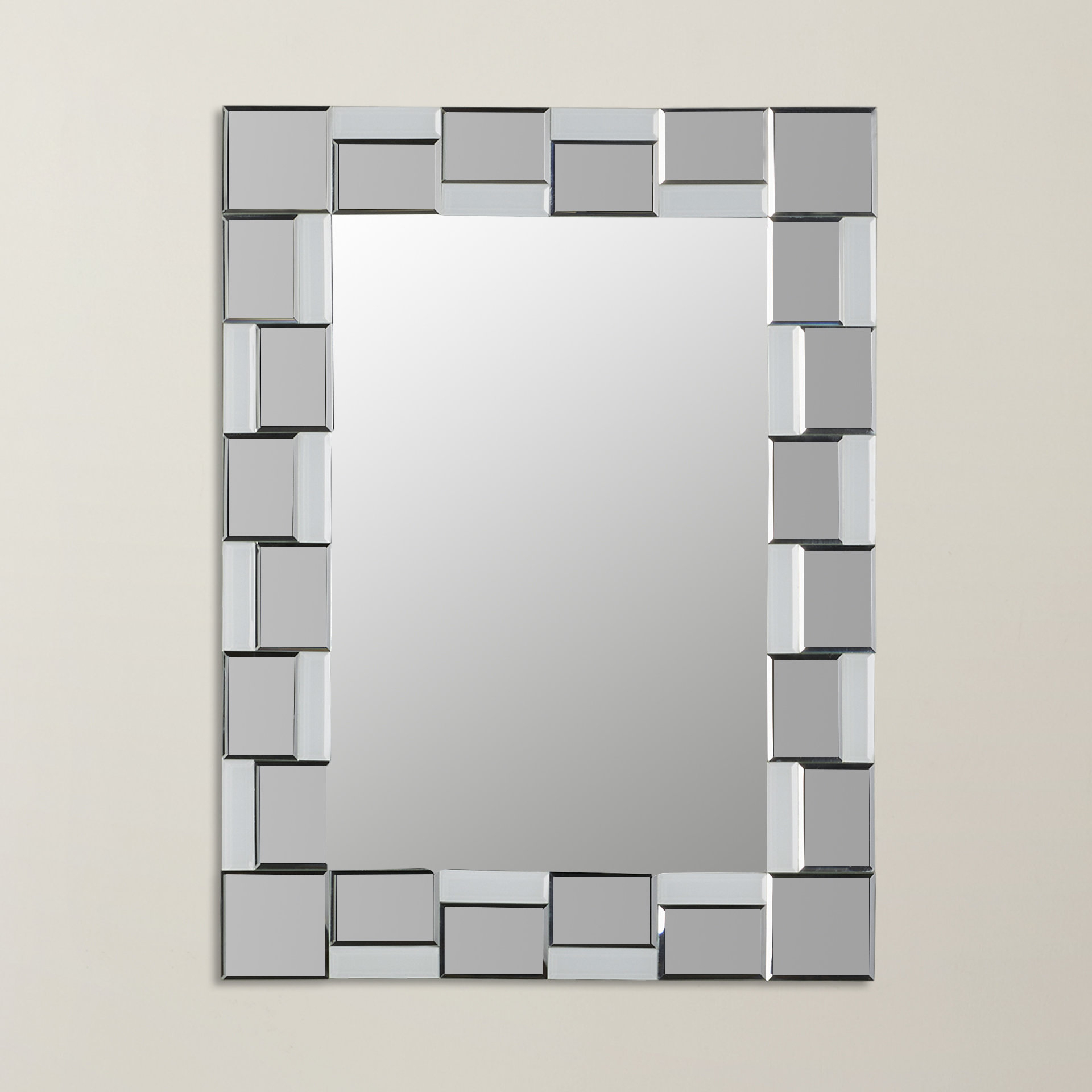 Well Liked Logan Frameless Wall Mirrors Regarding Logan Modern Wall Mirror (View 19 of 20)
