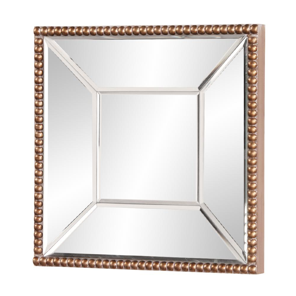 Well Liked Lydia Square Mirror 99076 – The Home Depot Throughout Lidya Frameless Beveled Wall Mirrors (View 16 of 20)