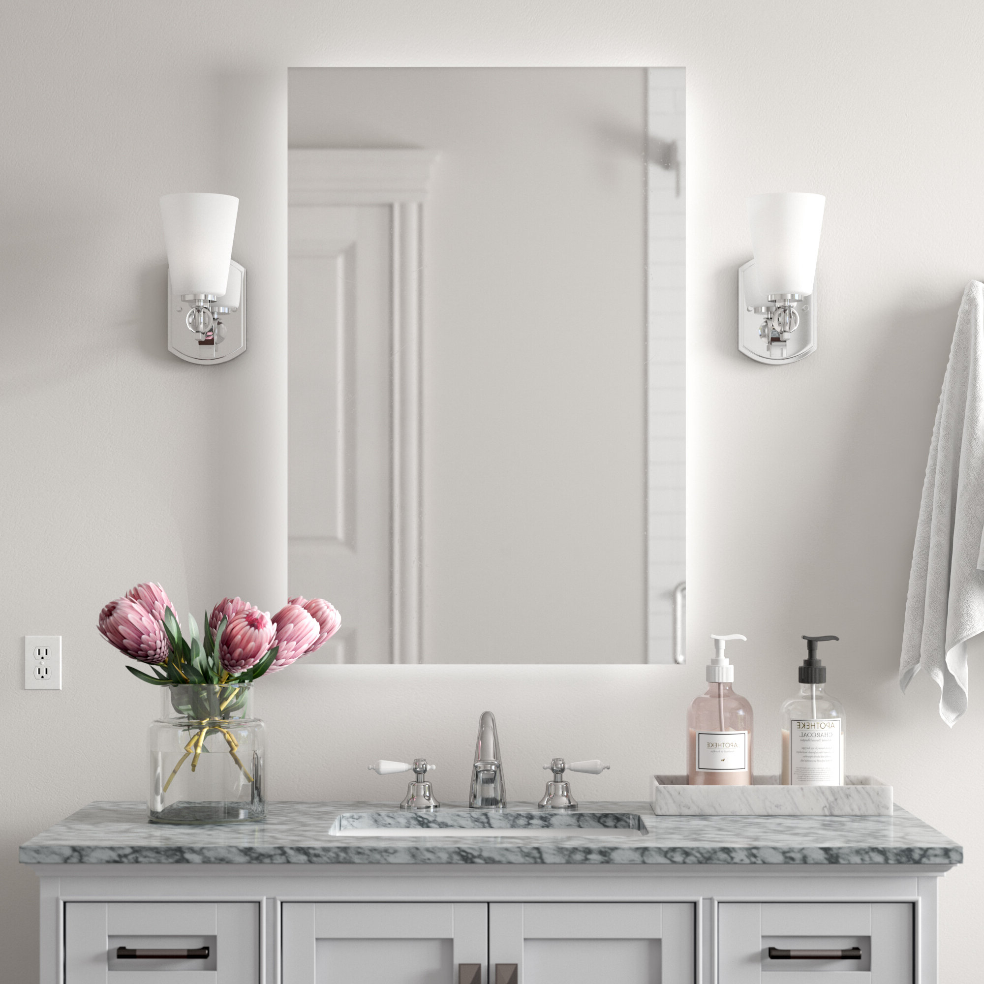 Well Liked Mexborough Bathroom/vanity Mirrors Pertaining To Moumoune Backlit Bathroom/vanity Mirror (View 3 of 20)