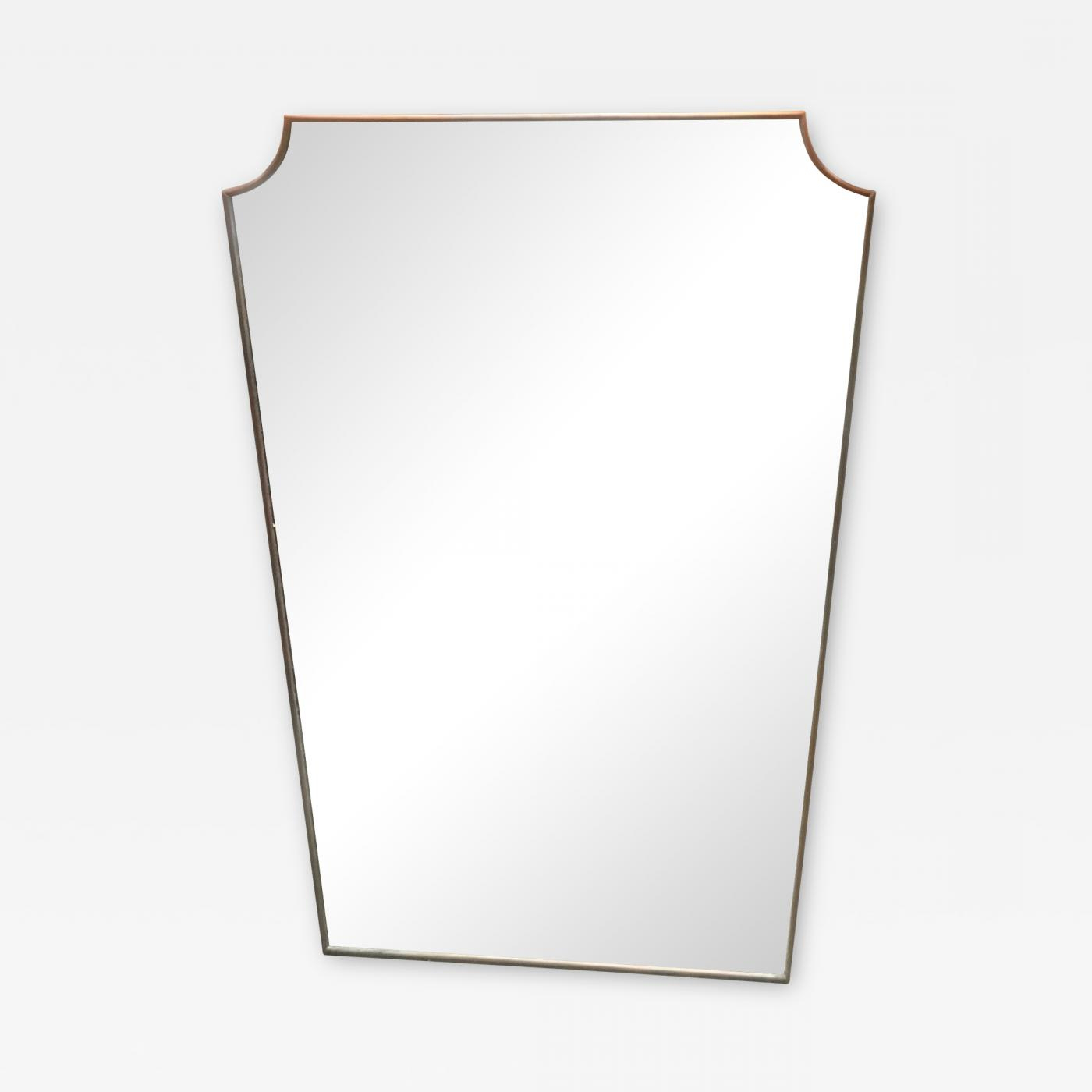 Well Liked Mid Century Wall Mirrors Inside Midcentury Wall Mirror Brass Frame Minimal Design, 1950S (Gallery 16 of 20)