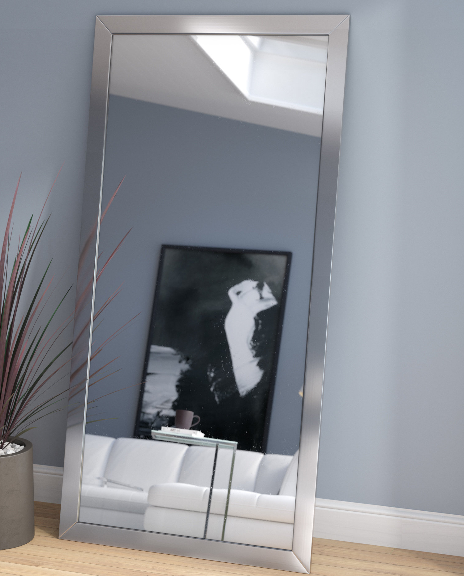 Well Liked Modern Full Length Wall Mirrors Intended For Modern & Contemporary Full Length Wall Mirror (View 20 of 20)