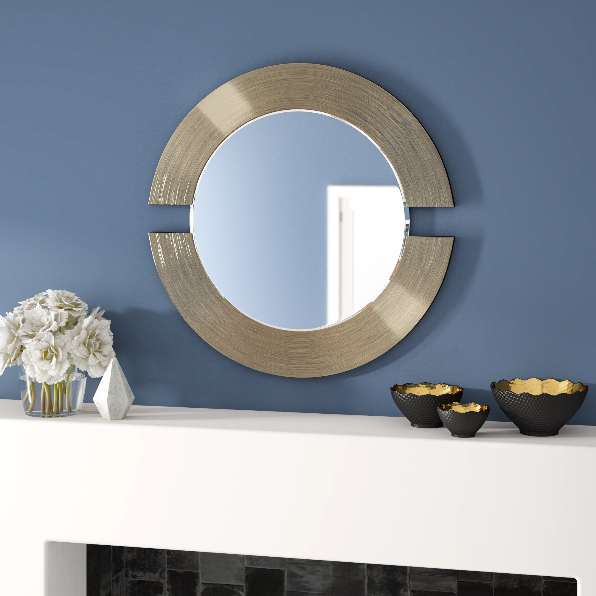 Well Liked Ogier Accent Mirrors Inside Matthew Round Accent Mirror (View 18 of 20)