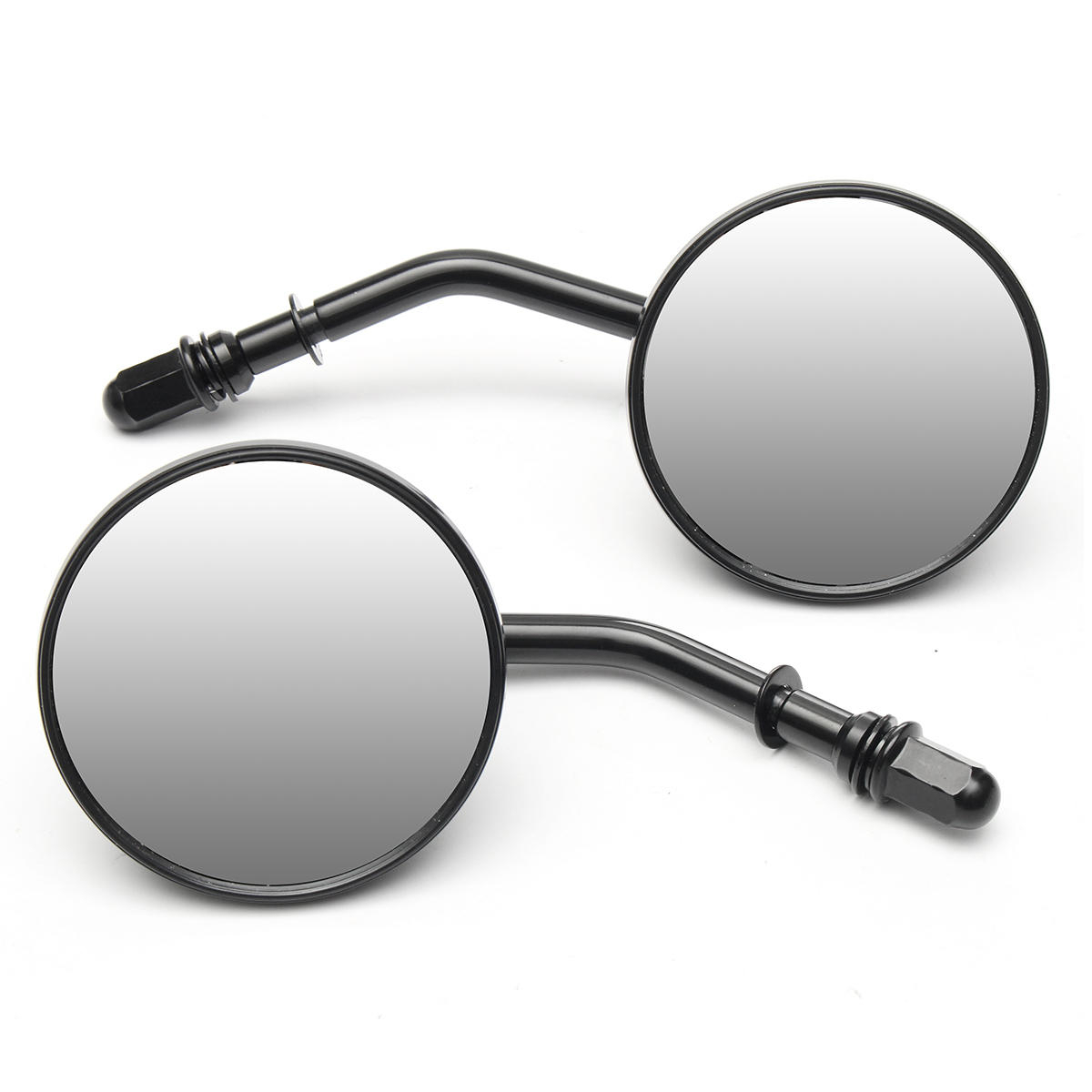 Well Liked Pair Round 3inch Motorcycle Mirrors Black For Harley Davidson Ryca With Harley Davidson Wall Mirrors (View 17 of 20)
