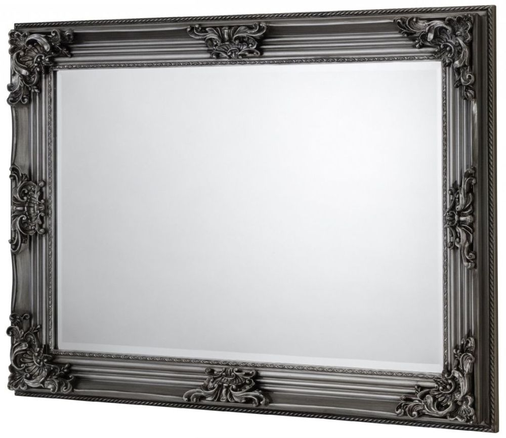 Well Liked Pewter Wall Mirrors With Regard To Julian Bowen Rococo Pewter Rectangular Wall Mirror – 110Cm X 80Cm (View 19 of 20)