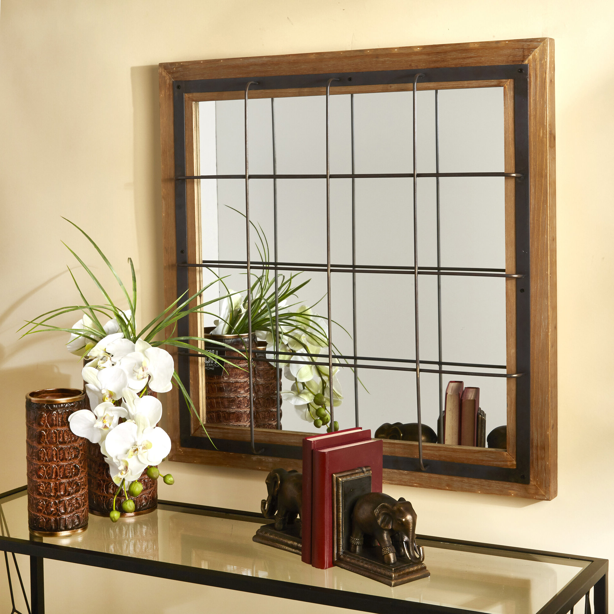Well Liked Polito Cottage/country Wall Mirrors In Leclair Windowpane Mirror (View 6 of 20)