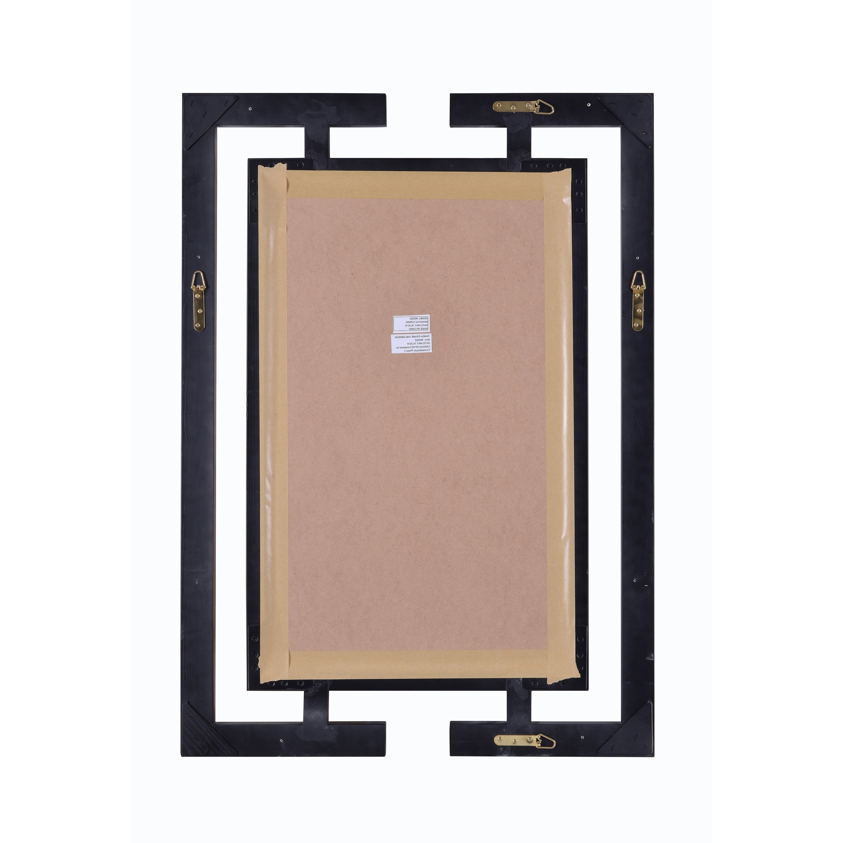Well Liked Quadrate 41x29 Glossy Black Beveled Wall Mirror Within Beveled Wall Mirrors (View 18 of 20)