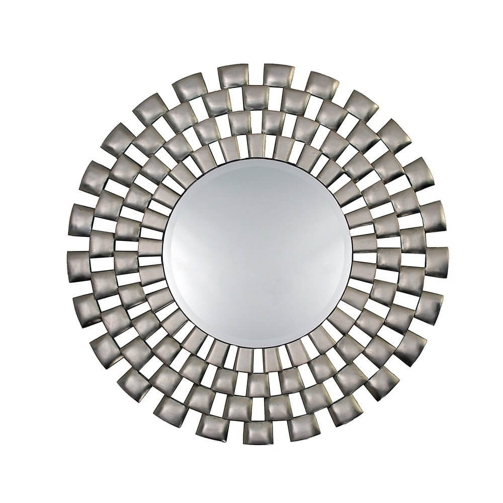 Well Liked Rv Astley Laviana Wall Mirror Silver Leaf Finish Pertaining To Silver Leaf Wall Mirrors (View 18 of 20)