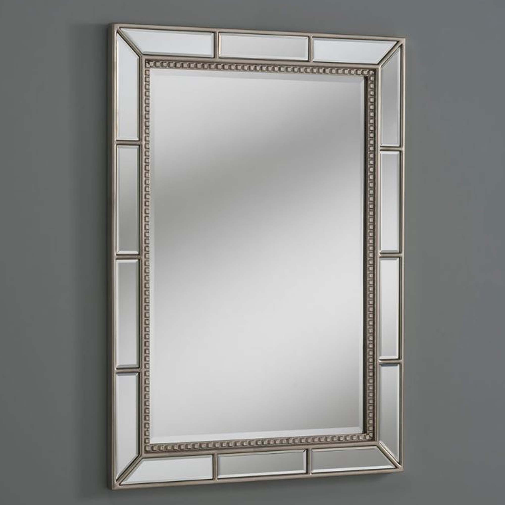 Well Liked Silver Framed Wall Mirrors For Mirrored Wall Mirror Silver Bevelled Frame (Gallery 5 of 20)