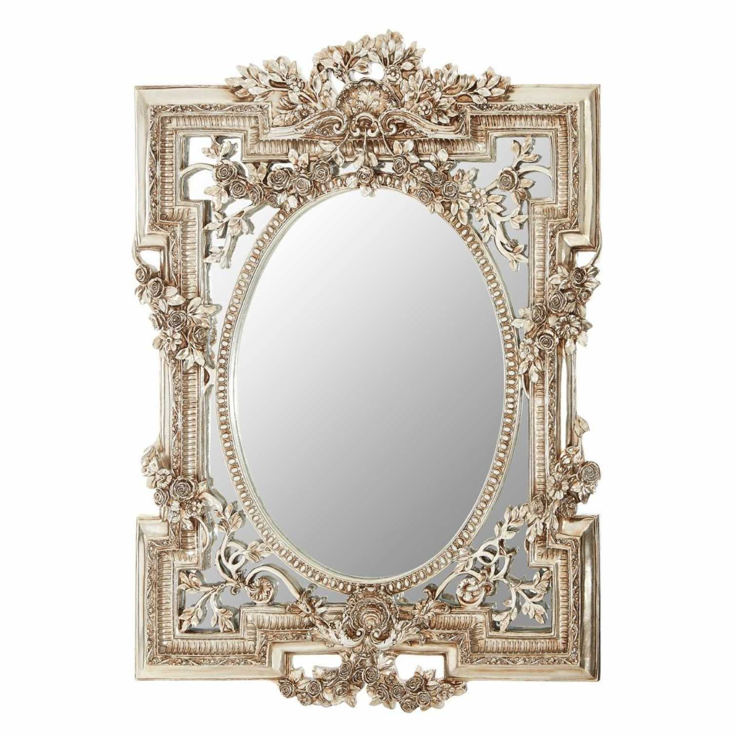Well Liked Small Wall Mirrors Pertaining To Ornate Decorative Juliet Small Wall Mirror Champagne Coloured Frame (View 2 of 20)