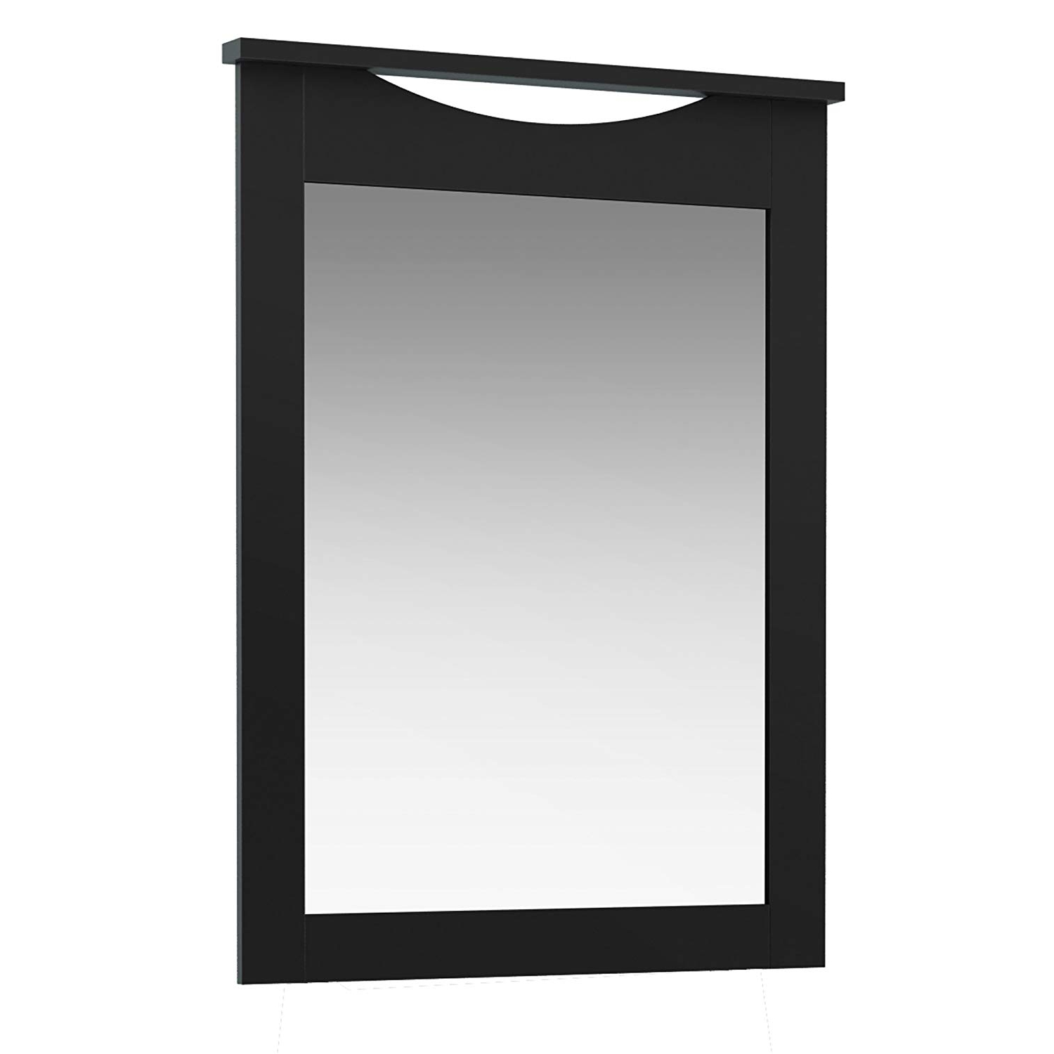 Well Liked South Shore Contemporary Wall Mirror, Pure Black Pertaining To Contemporary Black Wall Mirrors (View 12 of 20)