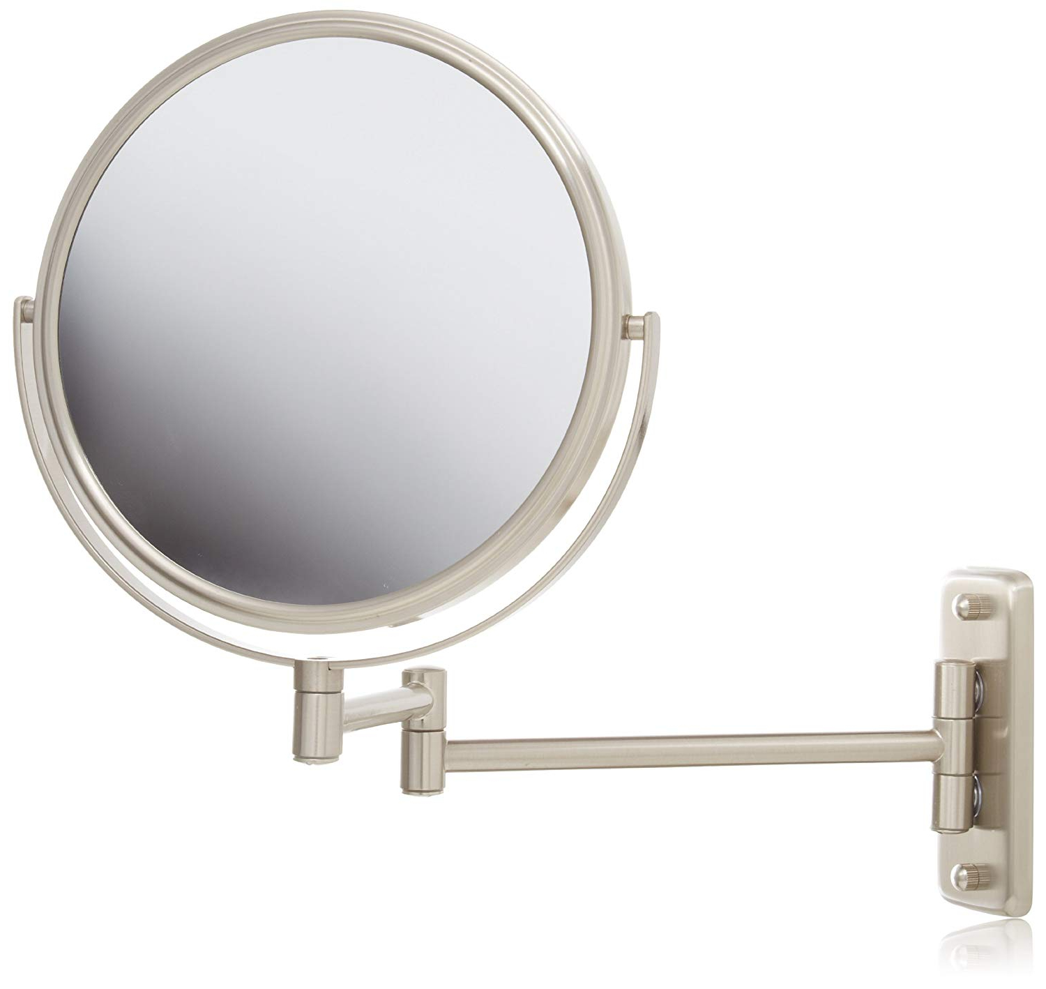 Well Liked Swivel Wall Mirrors Regarding Jerdon Jp7808n 8 Inch Two Sided Swivel Wall Mount Mirror With 8x Magnification, (View 16 of 20)